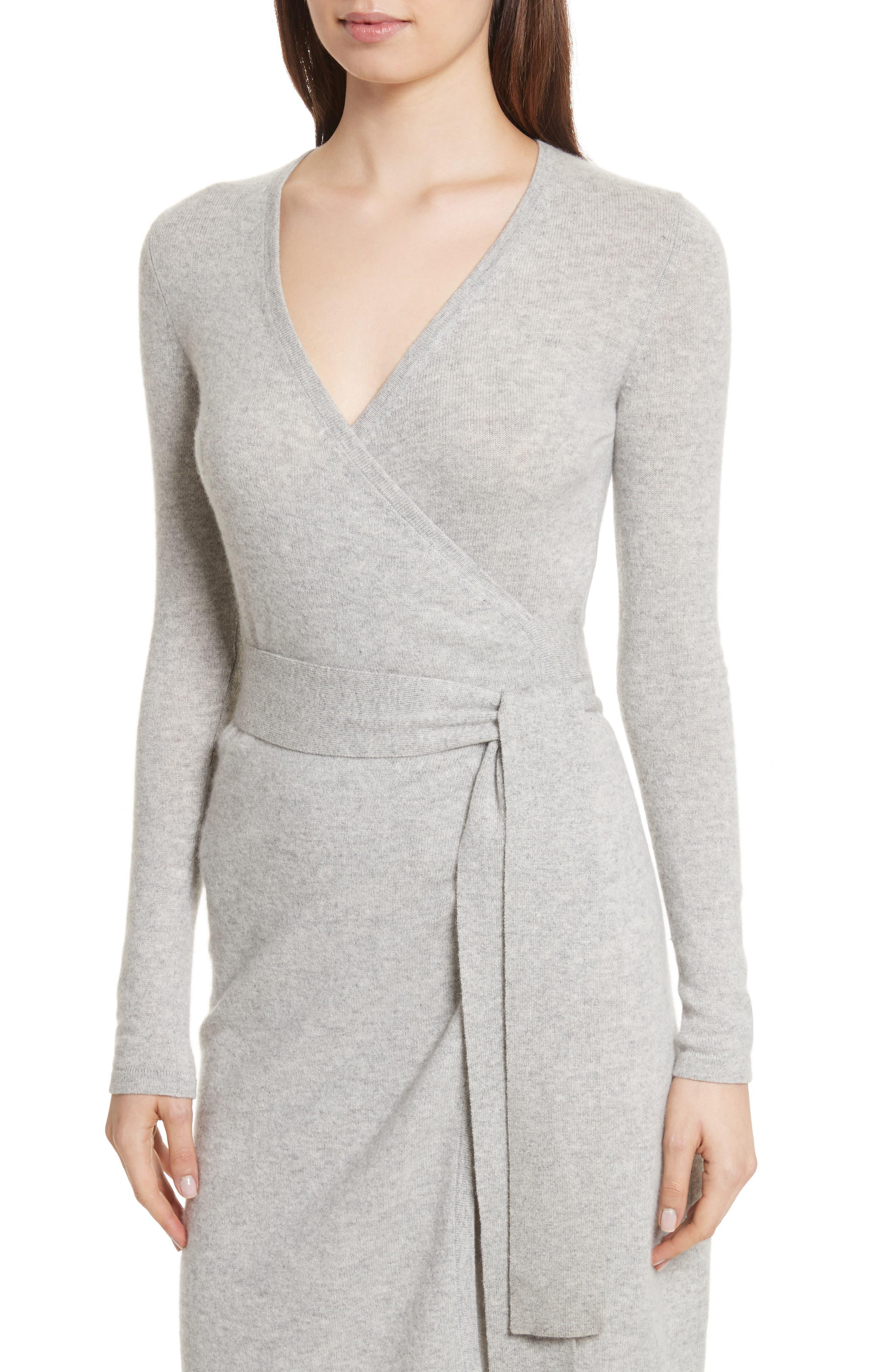 Diane Von Furstenberg Linda Cashmere Wrap Dress,                             Alternate thumbnail 8, color,