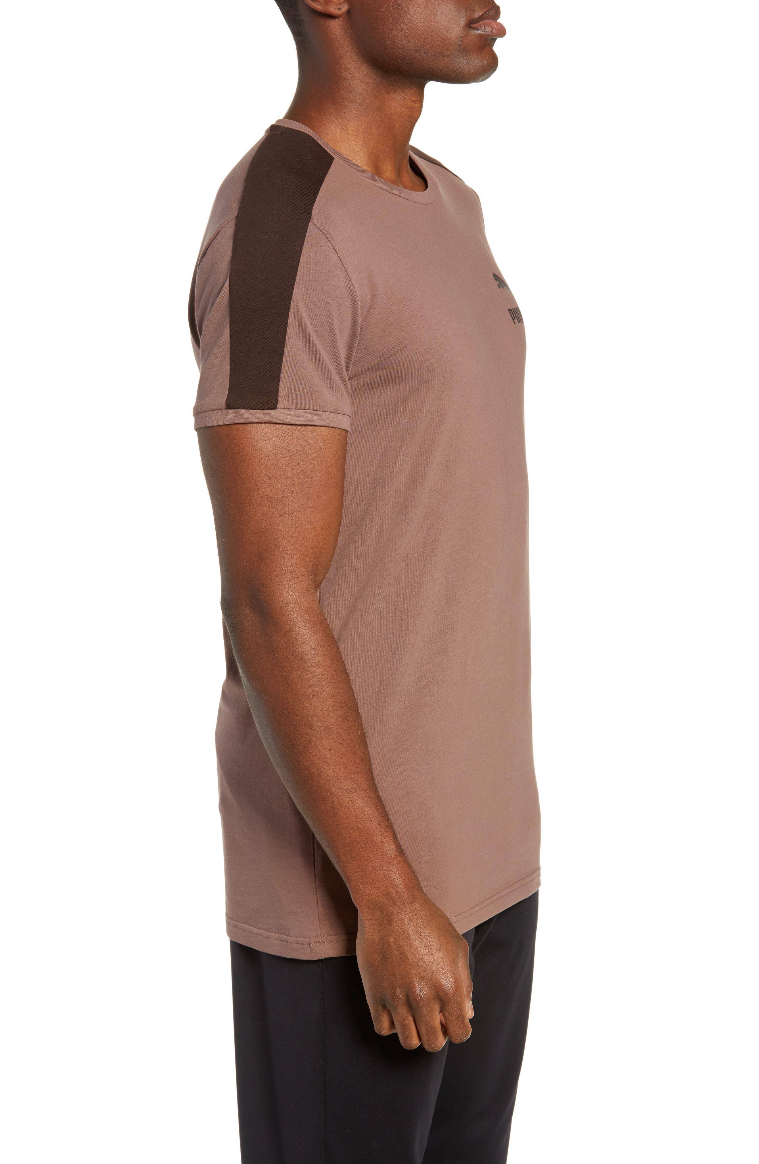 Classics Slim T7 T-Shirt,                             Alternate thumbnail 3, color,                             MEDIUM GRAY HEATHER