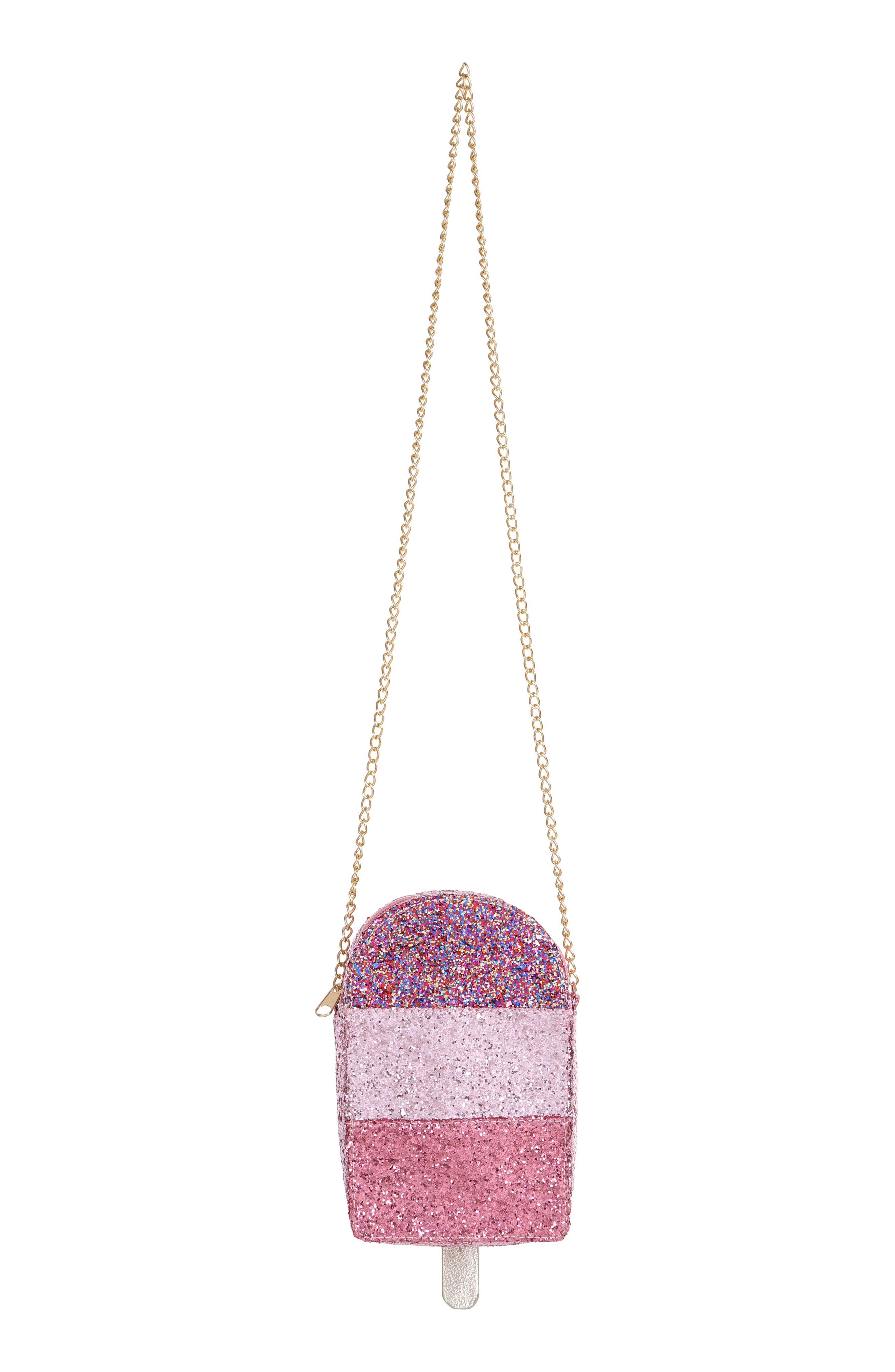 Ice Pop Glitter Shoulder Bag,                             Alternate thumbnail 4, color,                             PINK COMBO