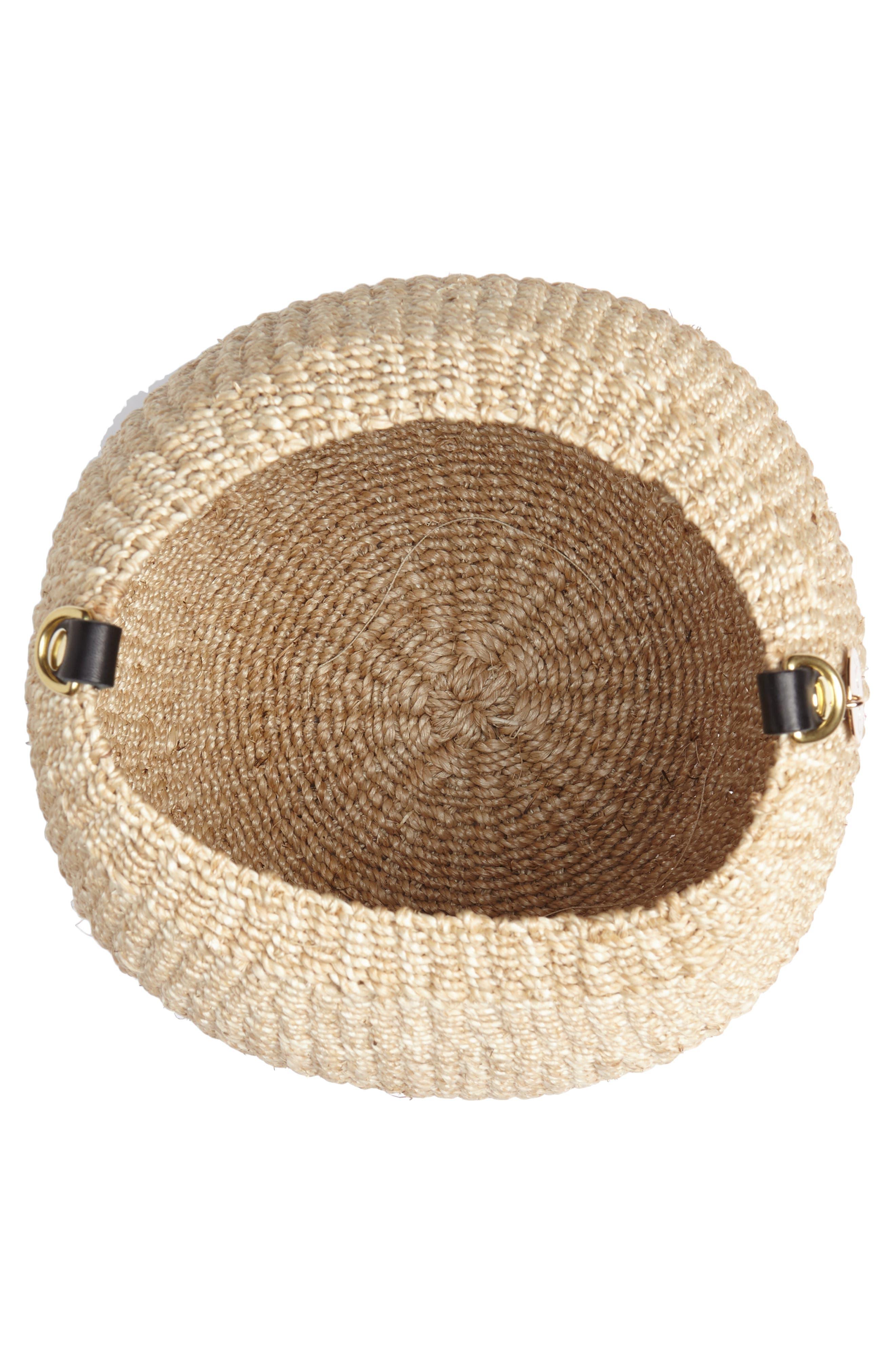 Pot de Miel Top Handle Straw Basket Bag,                             Alternate thumbnail 15, color,