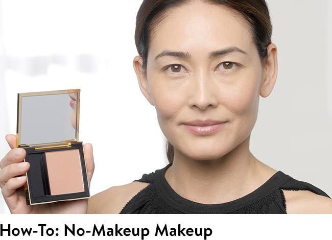 Click to play Estée Lauder video about how to do no-makeup makeup.