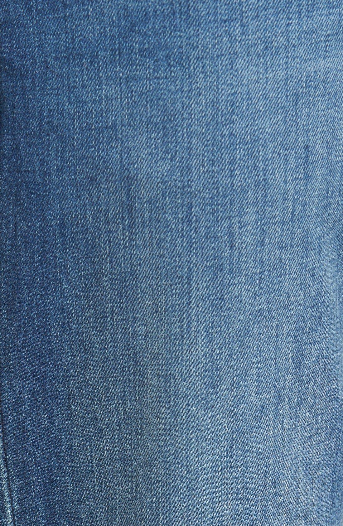'Nicholls' Regular Fit Straight Leg Jeans,                             Alternate thumbnail 4, color,                             DENIM