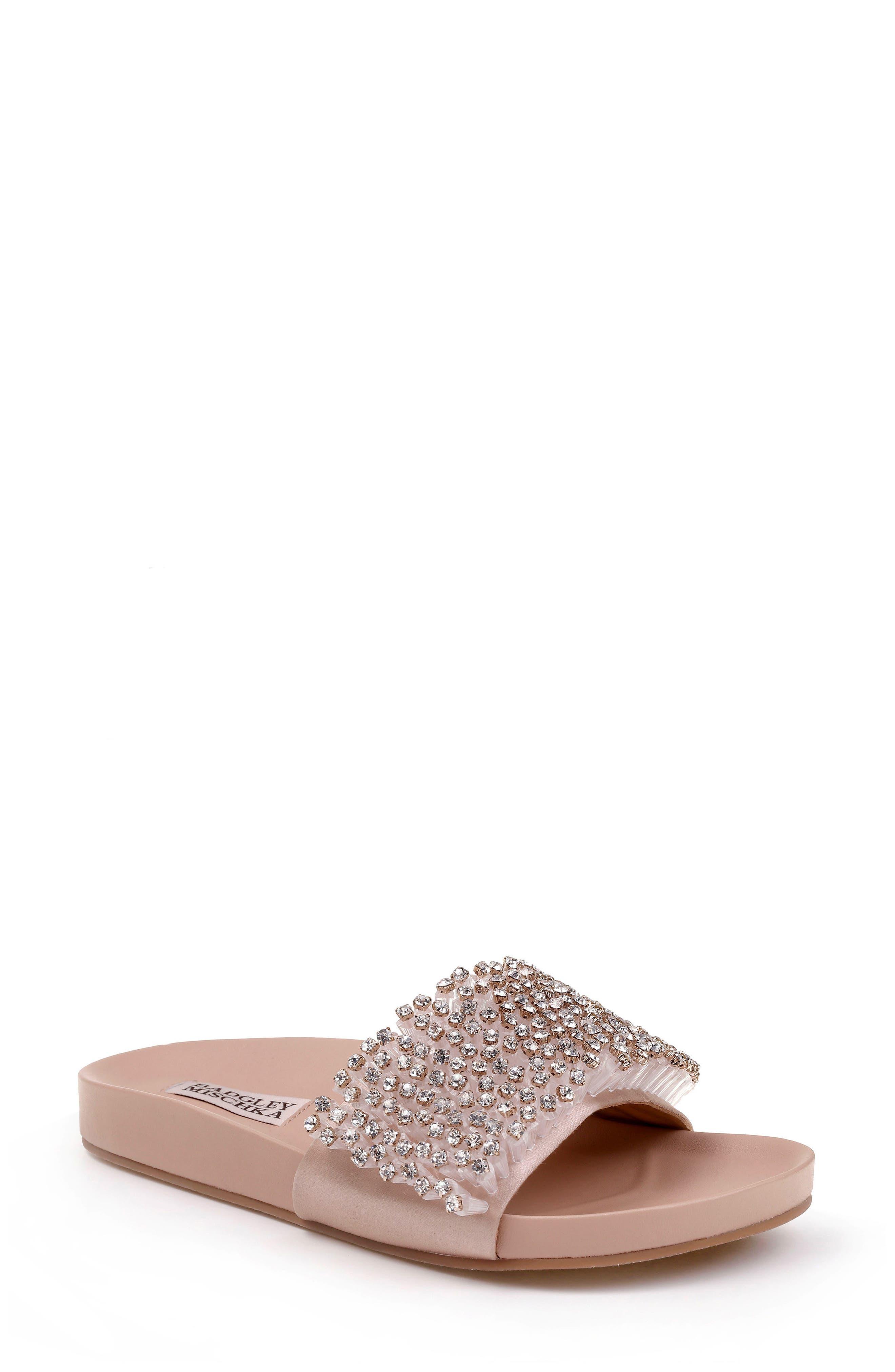 Horton Crystal Embellished Sandal,                             Main thumbnail 4, color,