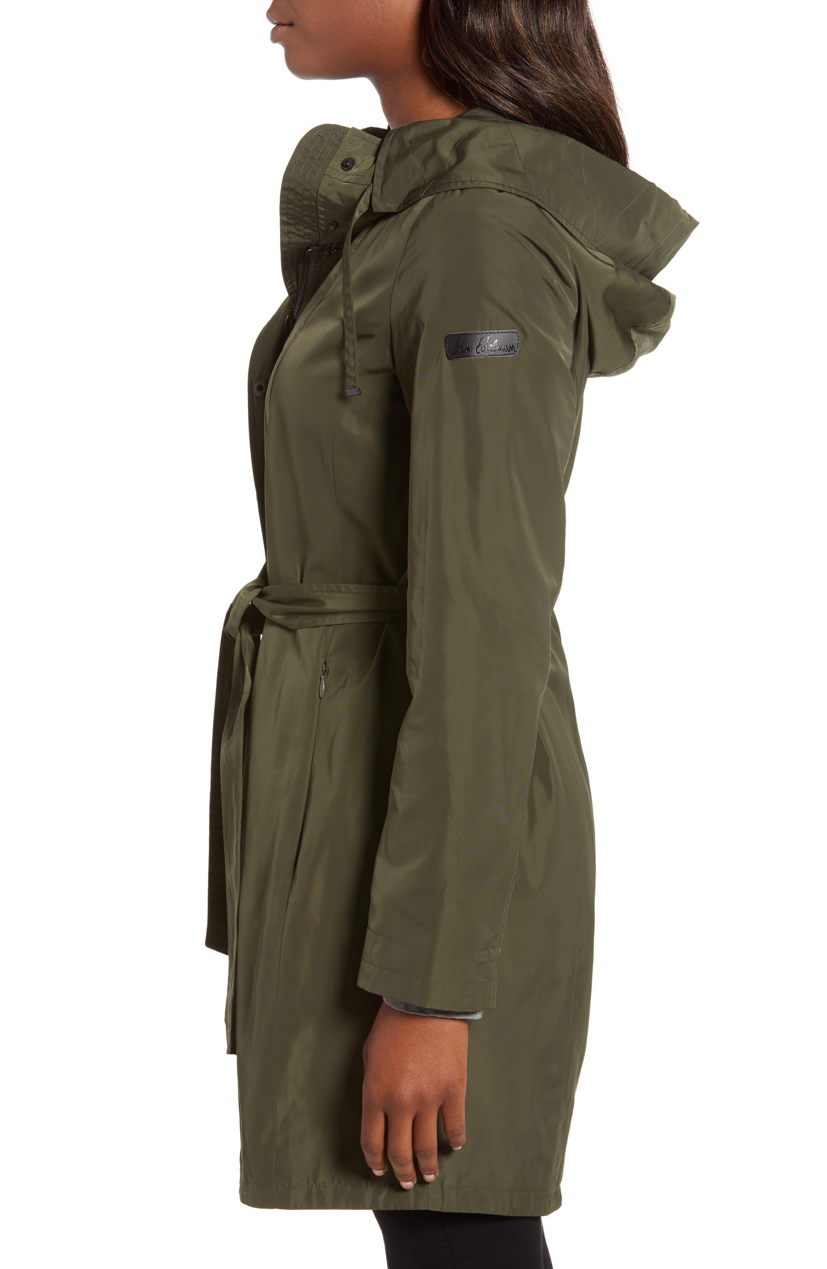 Hooded Coat,                             Alternate thumbnail 3, color,                             LODEN