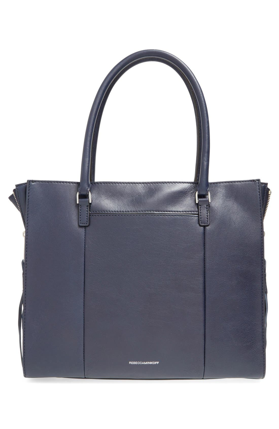 'Side Zip Regan' Tote,                             Alternate thumbnail 17, color,