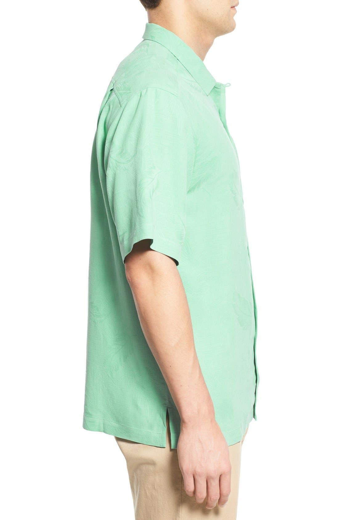 Rio Fronds Short Sleeve Silk Sport Shirt,                             Alternate thumbnail 38, color,