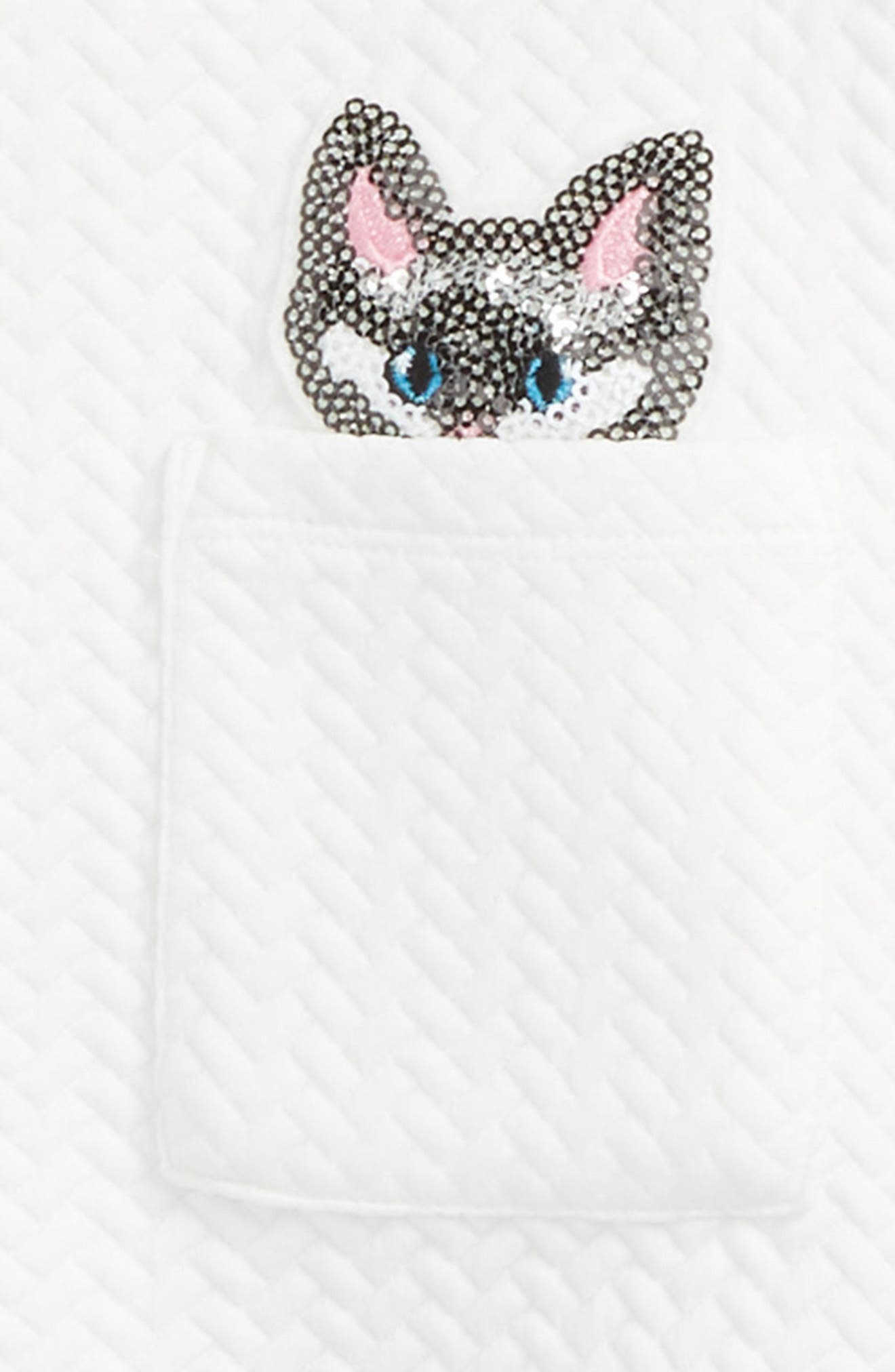 Sequin Cats Tunic & Leggings Set,                             Alternate thumbnail 2, color,                             100