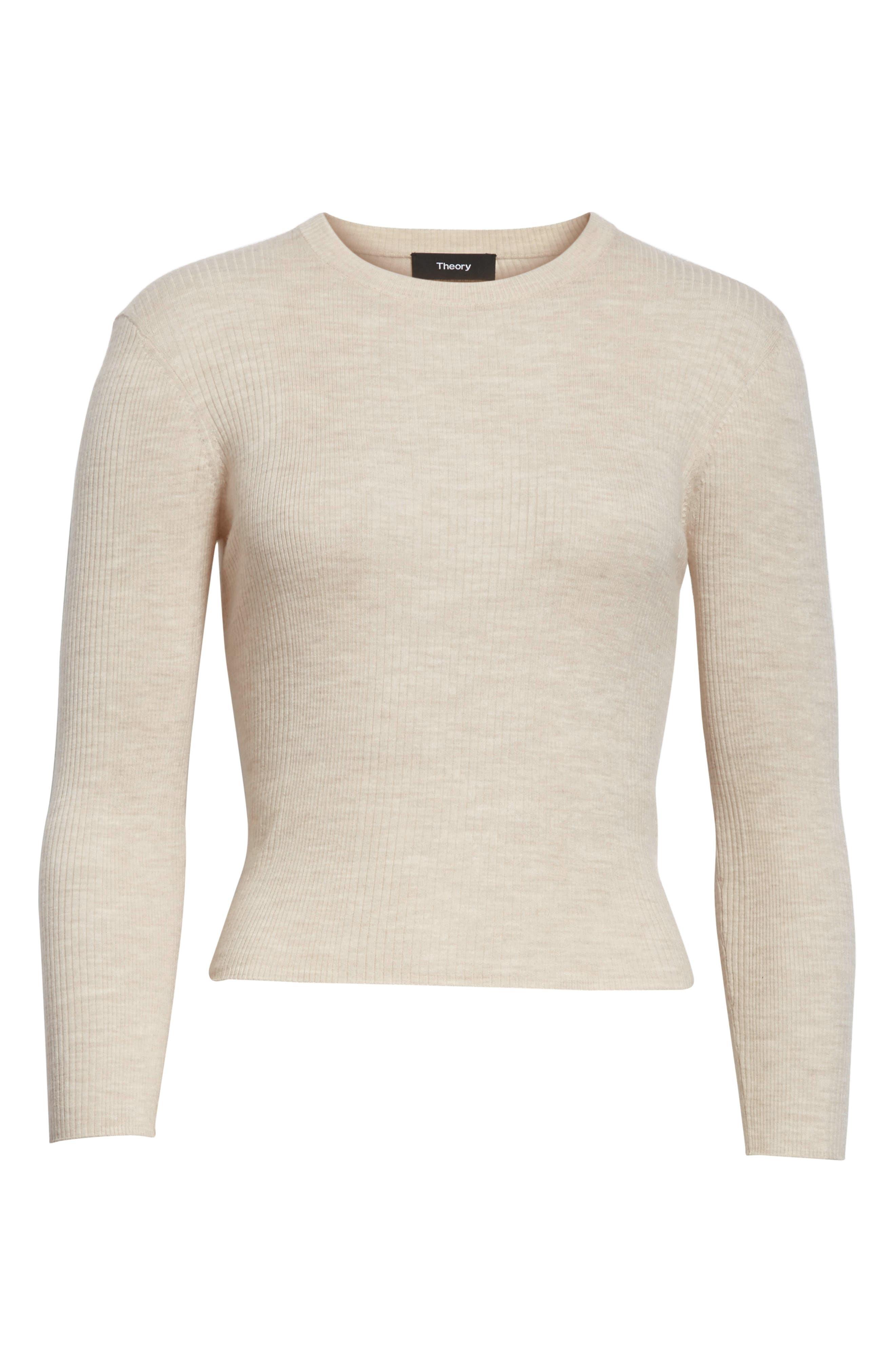 Merino Wool Blend Sweater,                             Alternate thumbnail 6, color,                             254