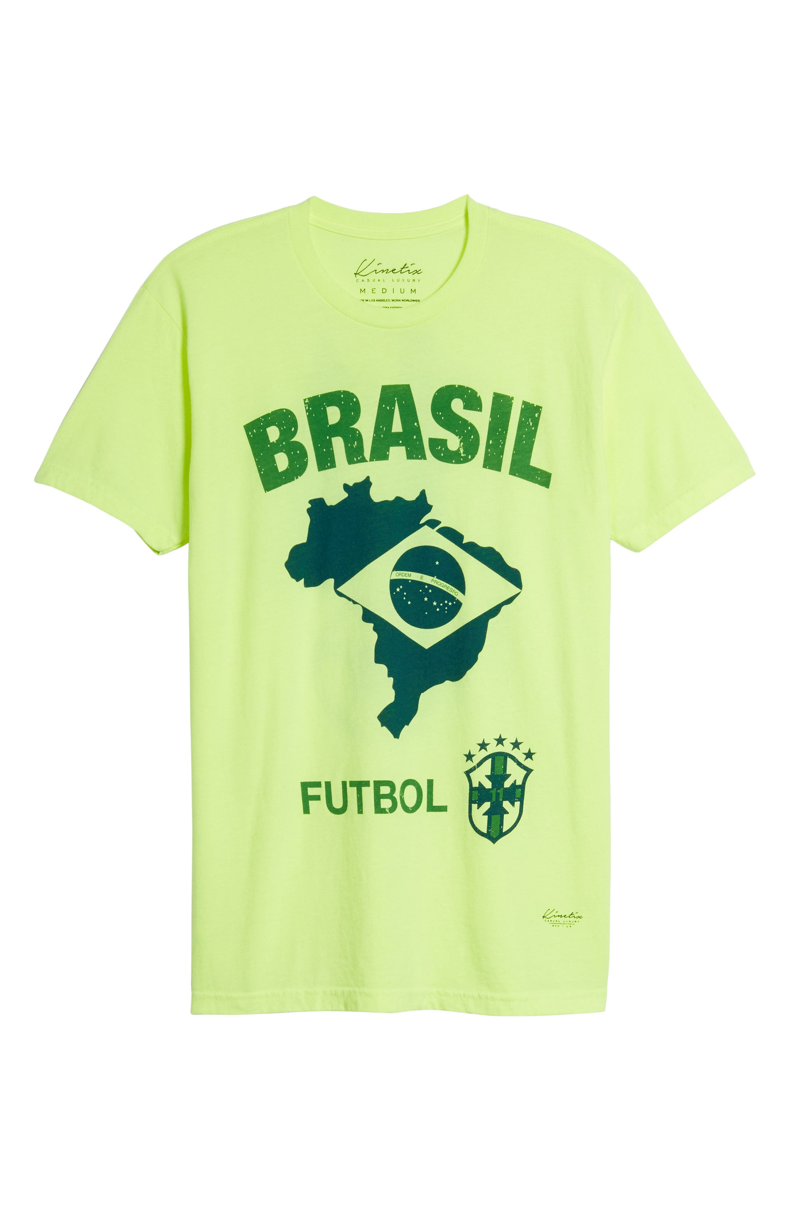 Brasil Futbol T-Shirt,                             Alternate thumbnail 6, color,                             700