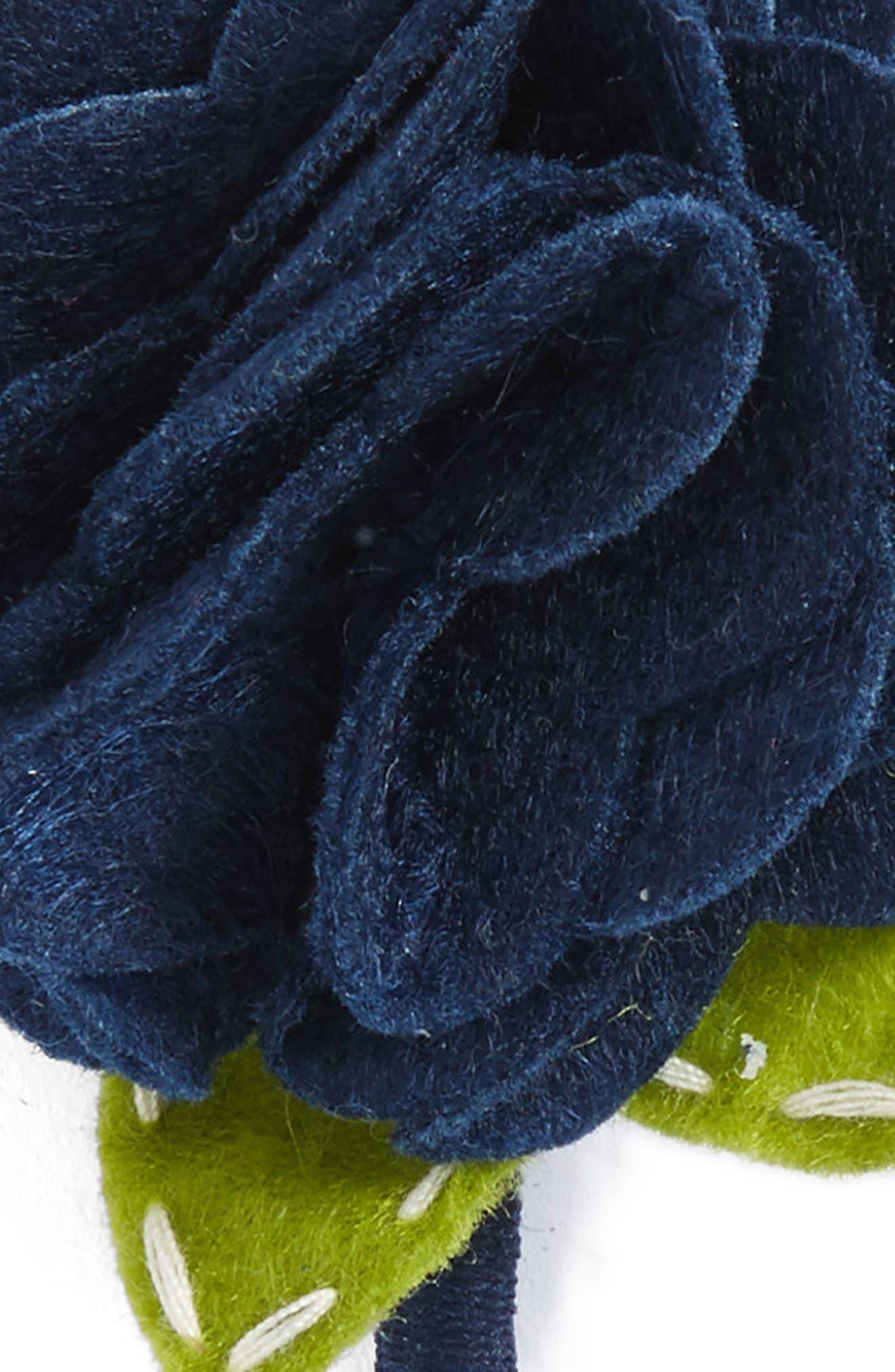 Rose Headband & Hair Clip Set,                             Alternate thumbnail 3, color,