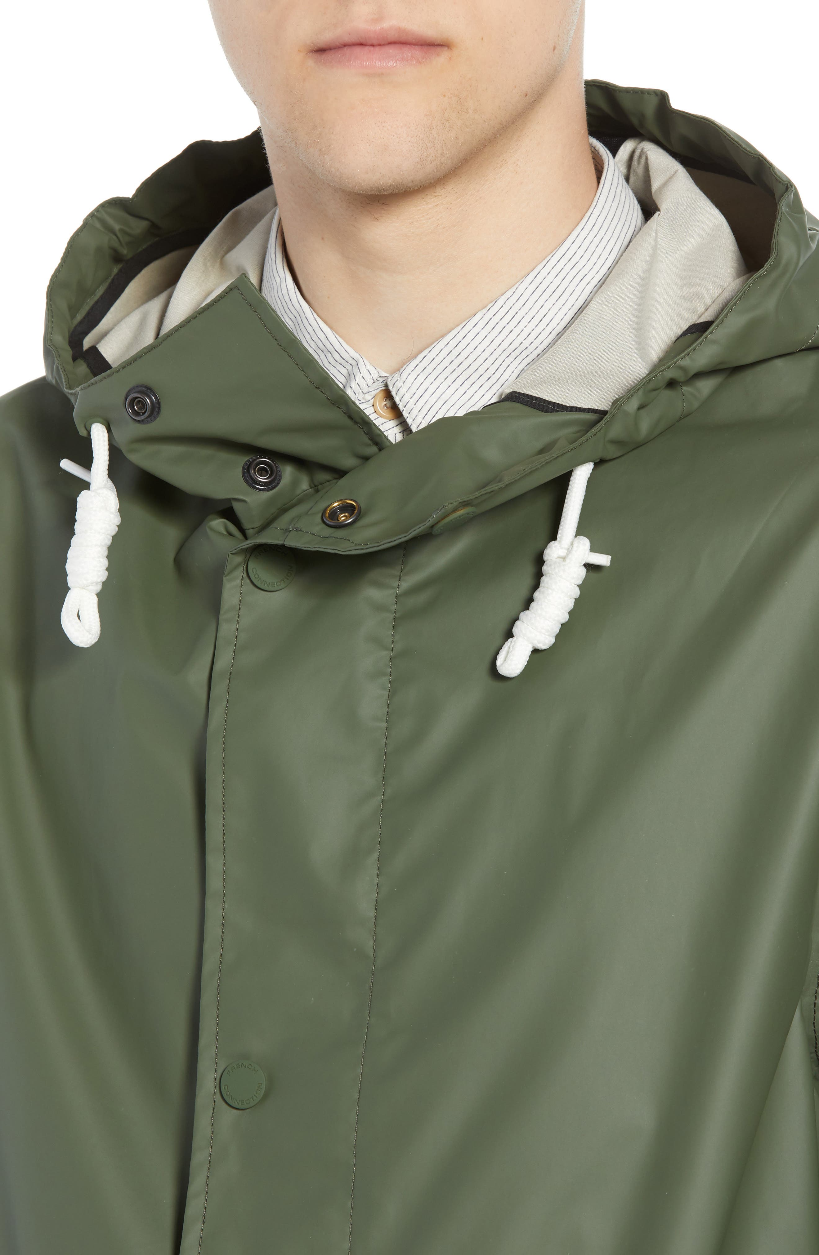 FRENCH CONNECTION,                             Rubber Coated Raincoat,                             Alternate thumbnail 4, color,                             300