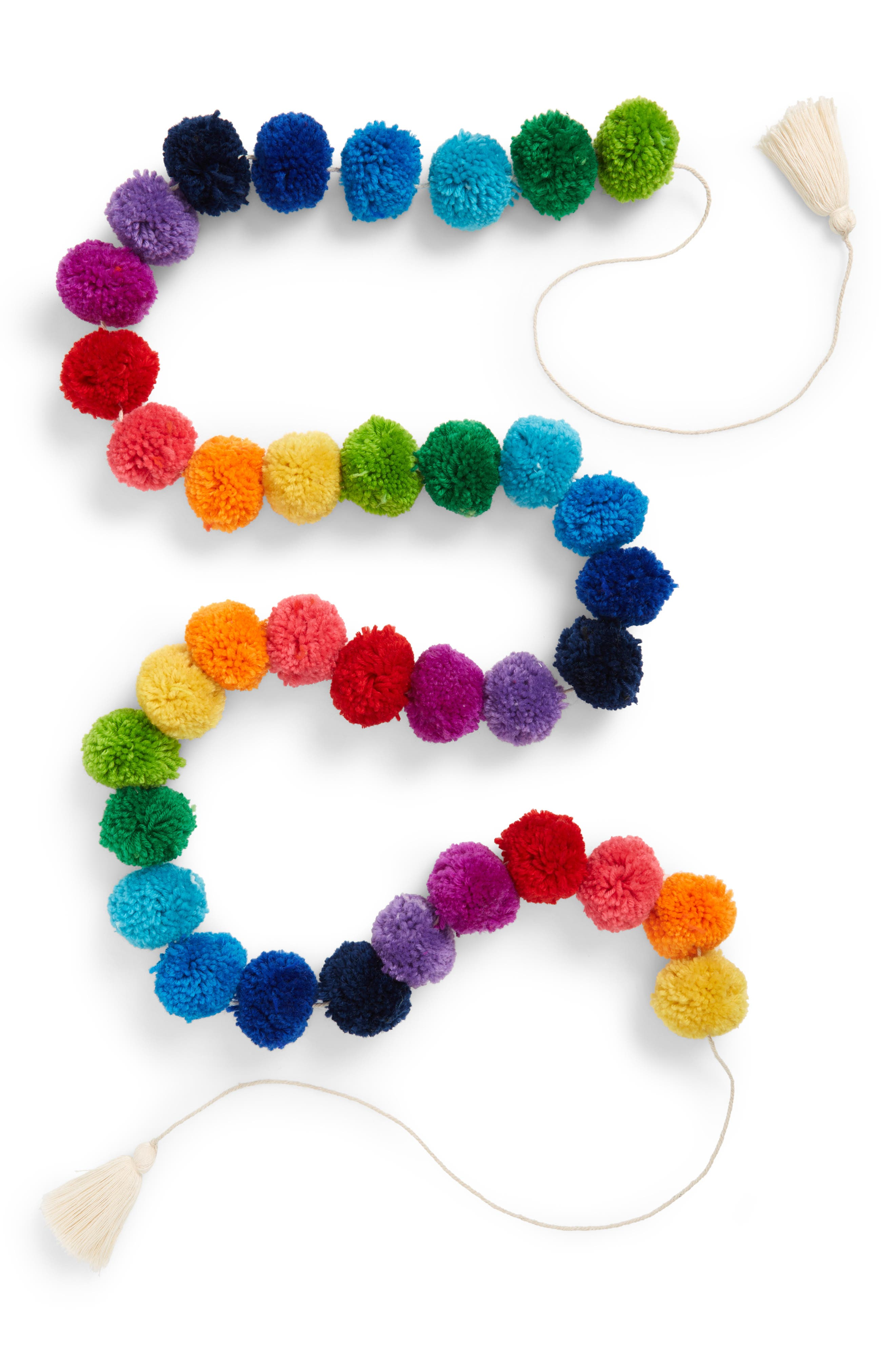 Bunting Pompom Garland,                             Main thumbnail 1, color,                             MULTI