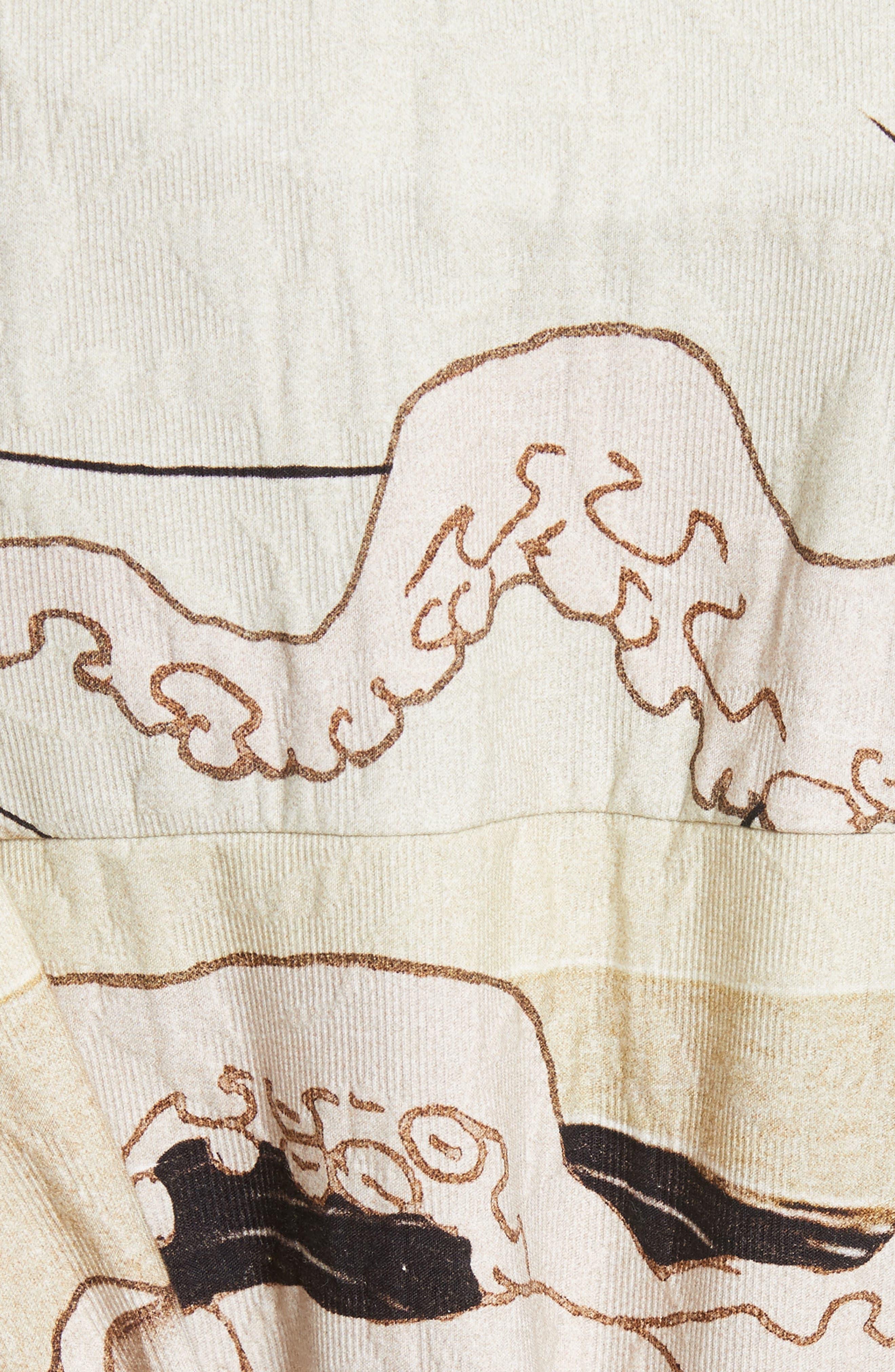Printed Kimono Bomber Jacket,                             Alternate thumbnail 6, color,                             250