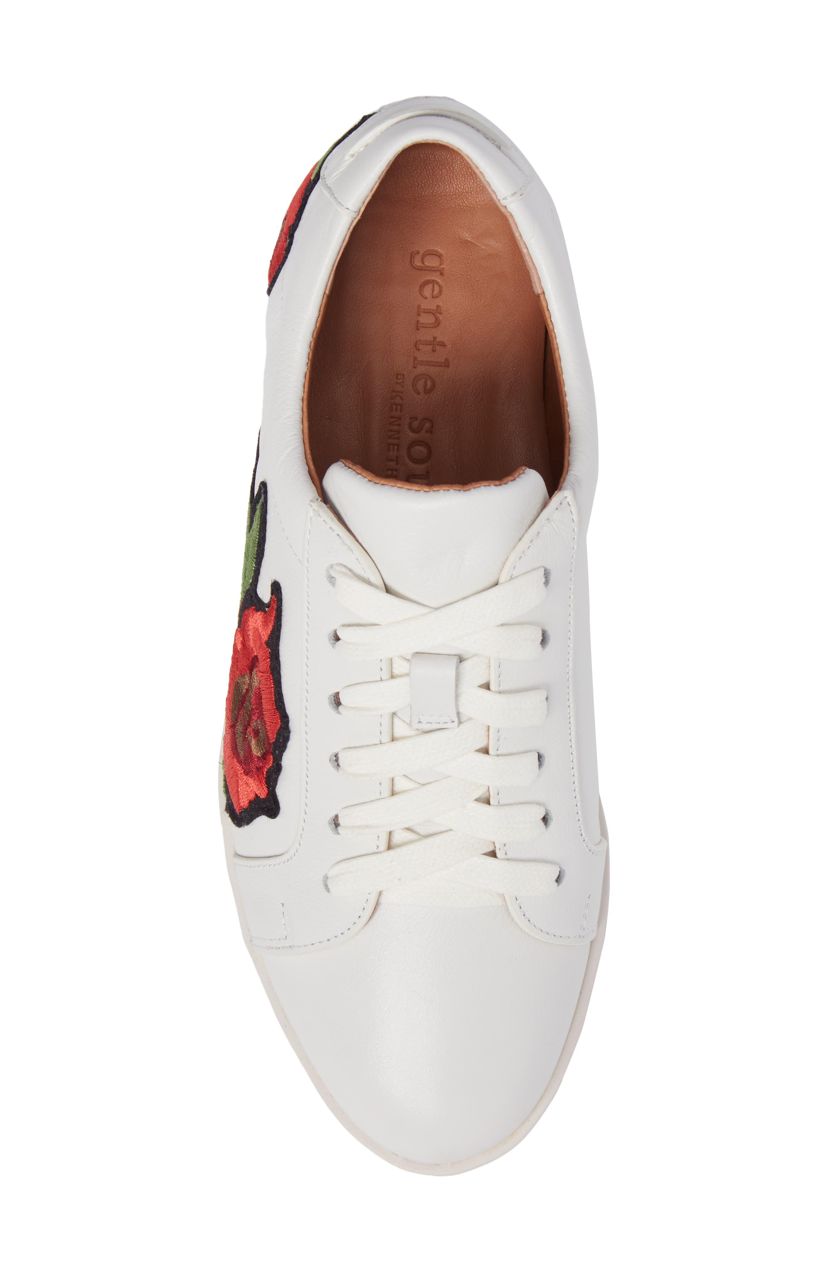 Gentle Soles Haddie Rose Sneaker,                             Alternate thumbnail 5, color,                             110