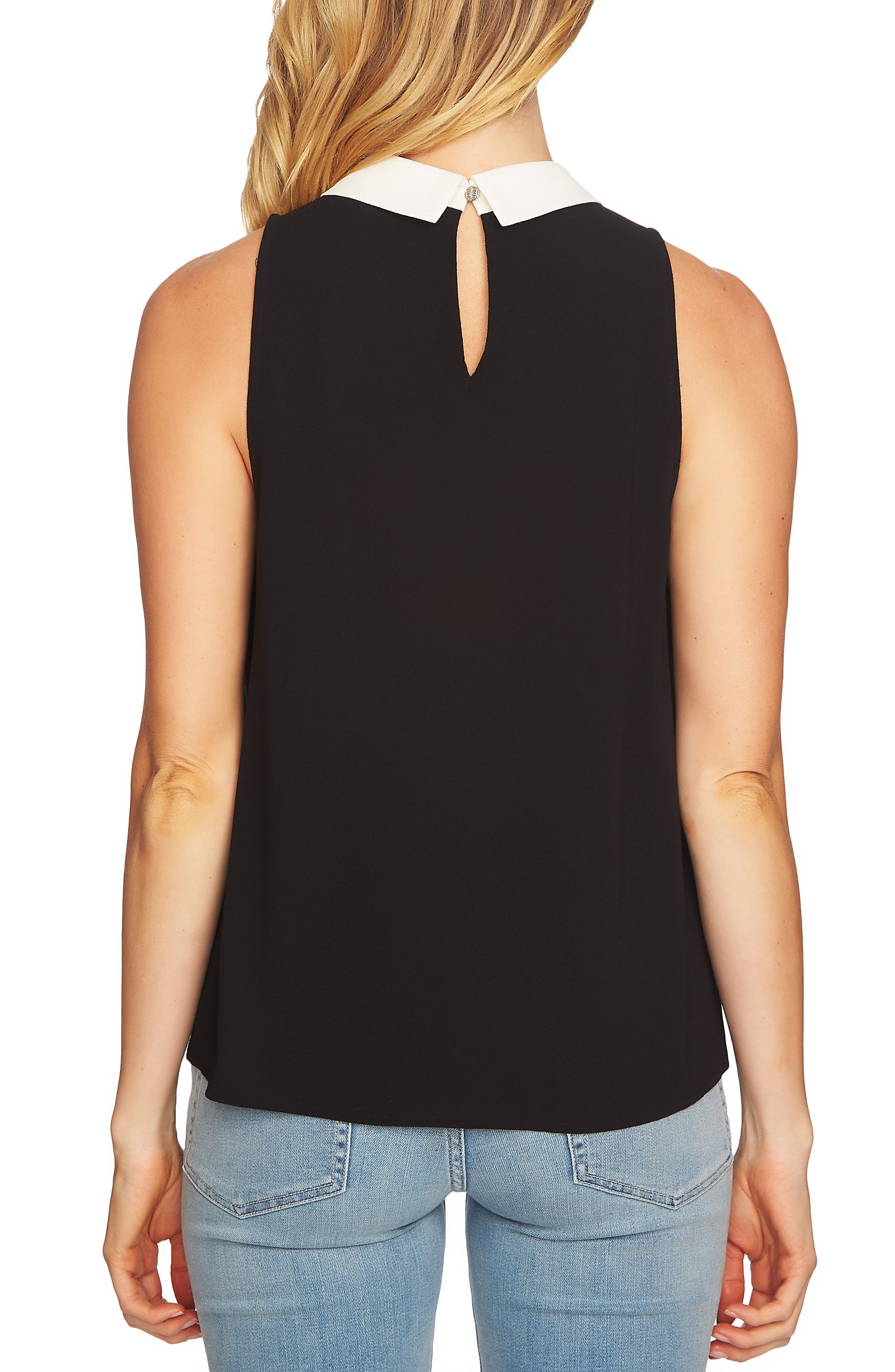 Sleeveless Collared Blouse,                             Alternate thumbnail 2, color,                             006