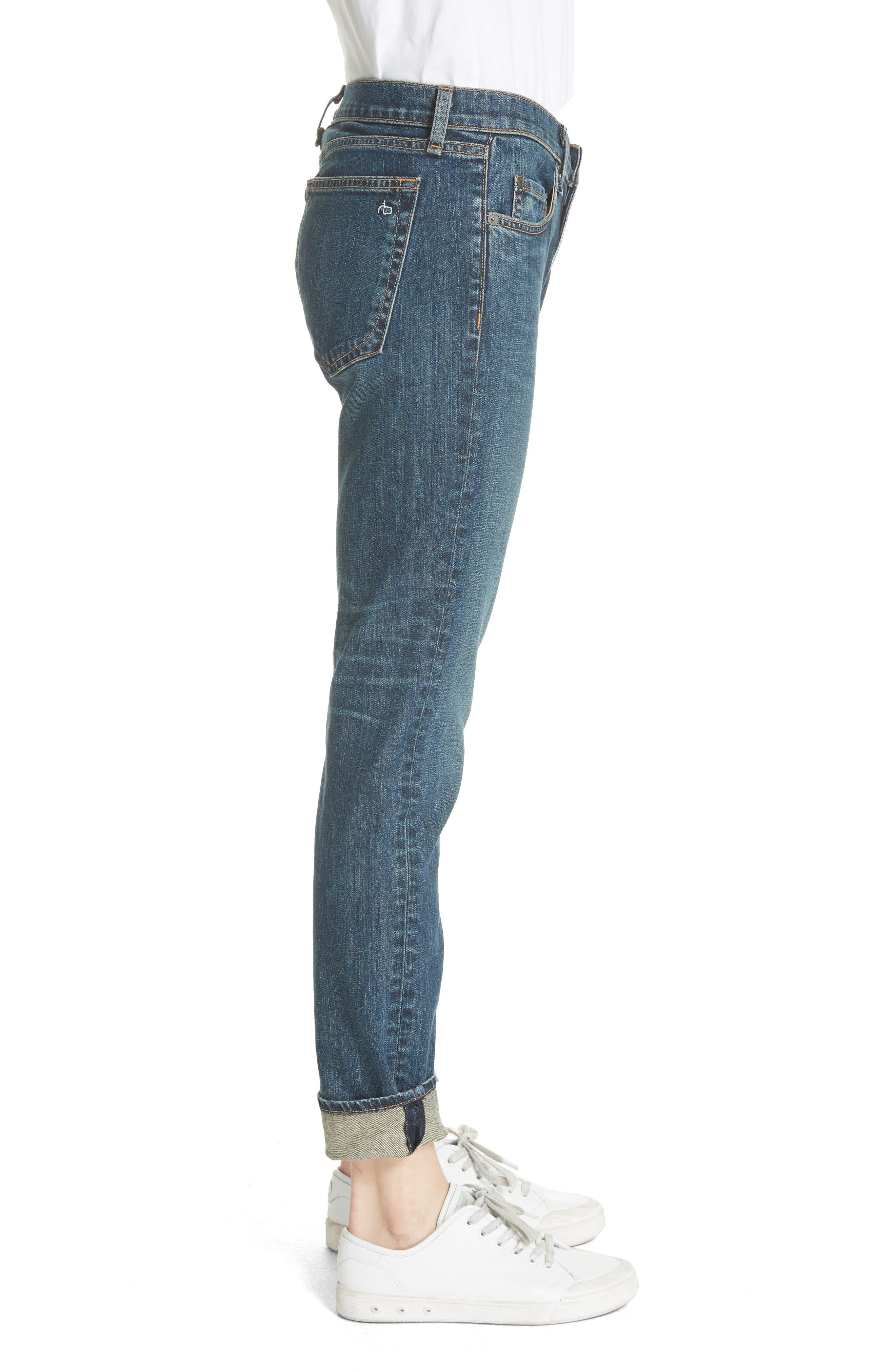 The Dre Slim Boyfriend Jeans,                             Alternate thumbnail 3, color,
