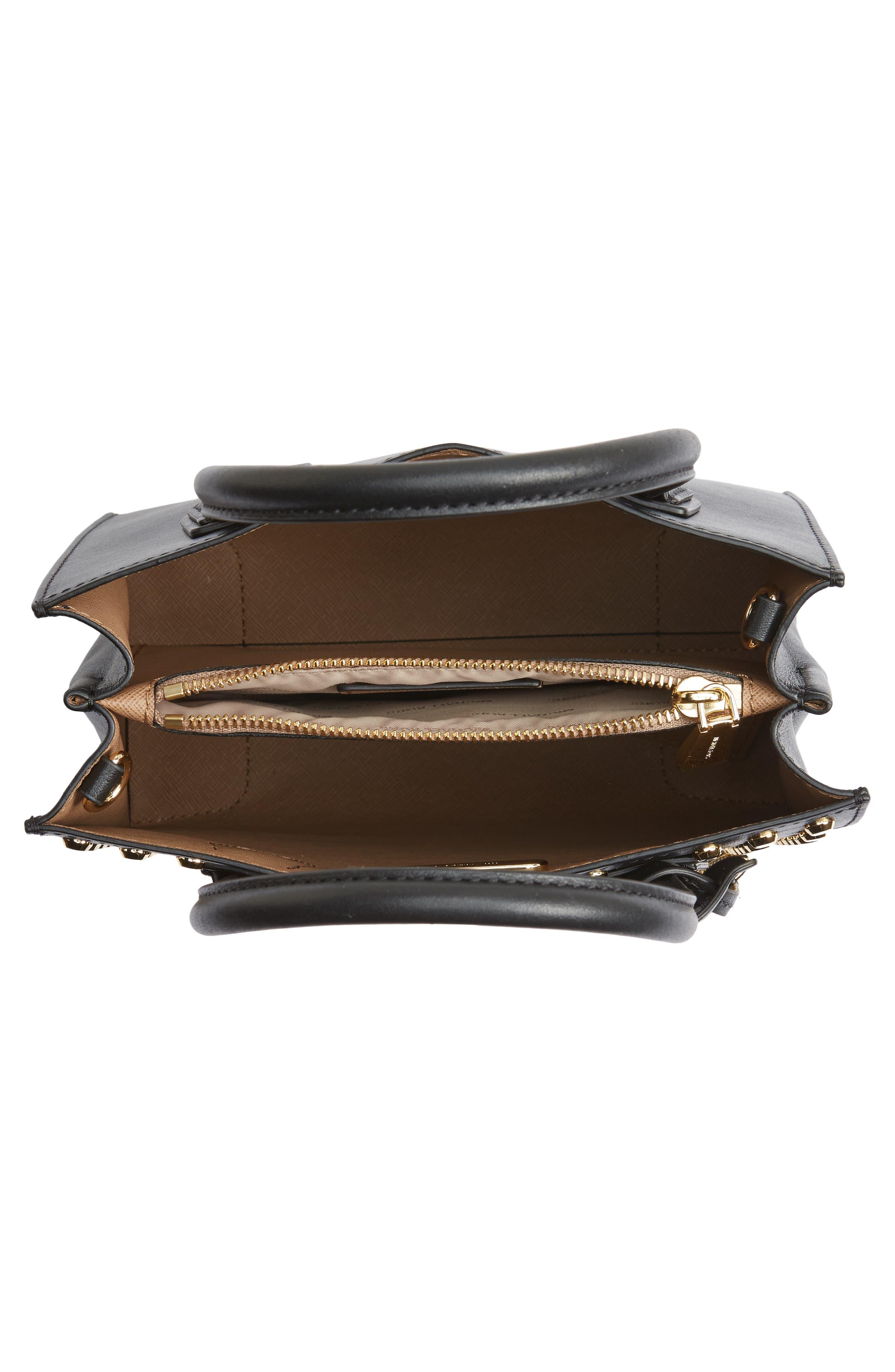 Medium Mercer Studded Leather Tote,                             Alternate thumbnail 4, color,                             001