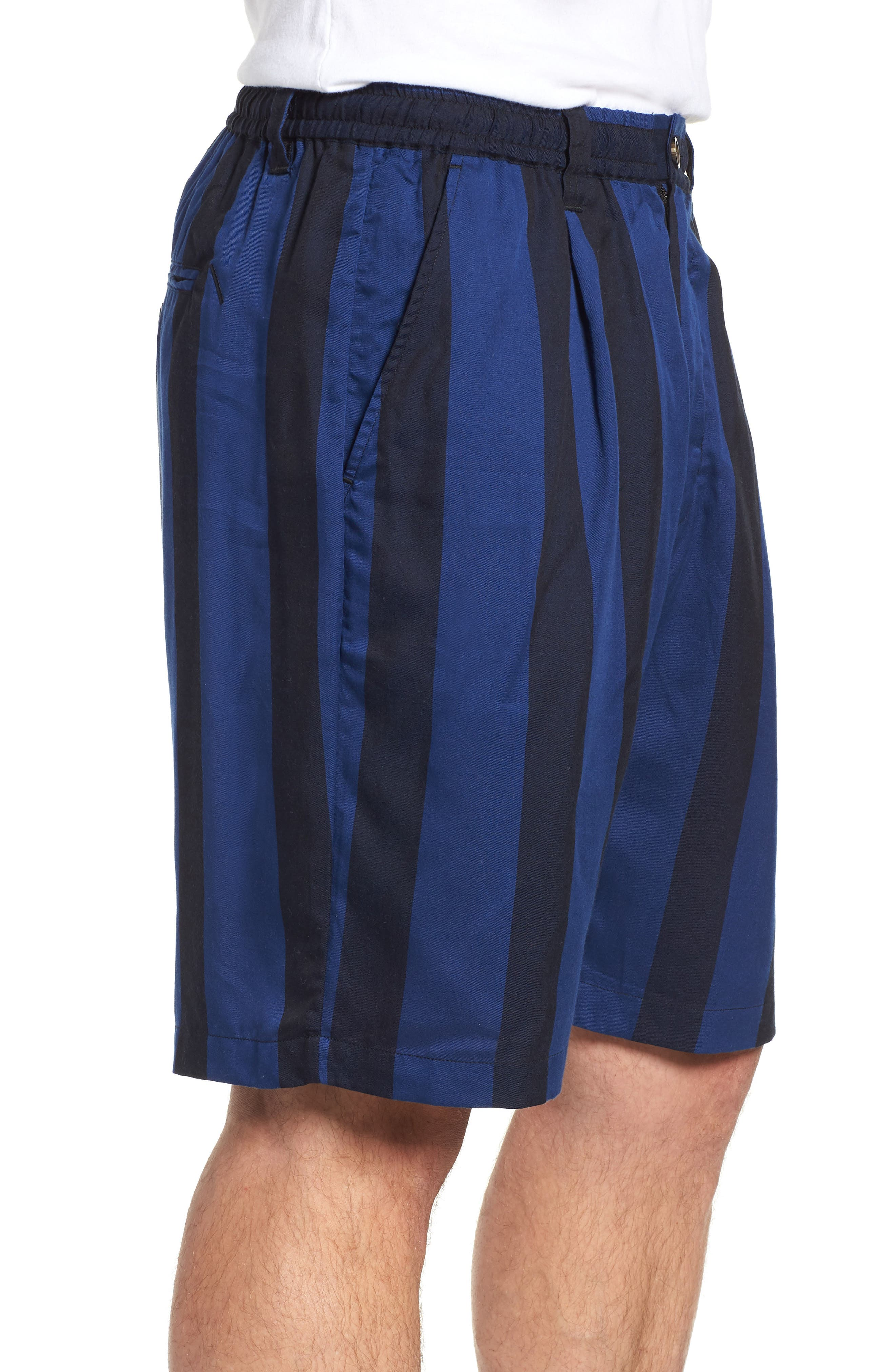 Keigo Broad Stripe Shorts,                             Alternate thumbnail 3, color,                             COBALT