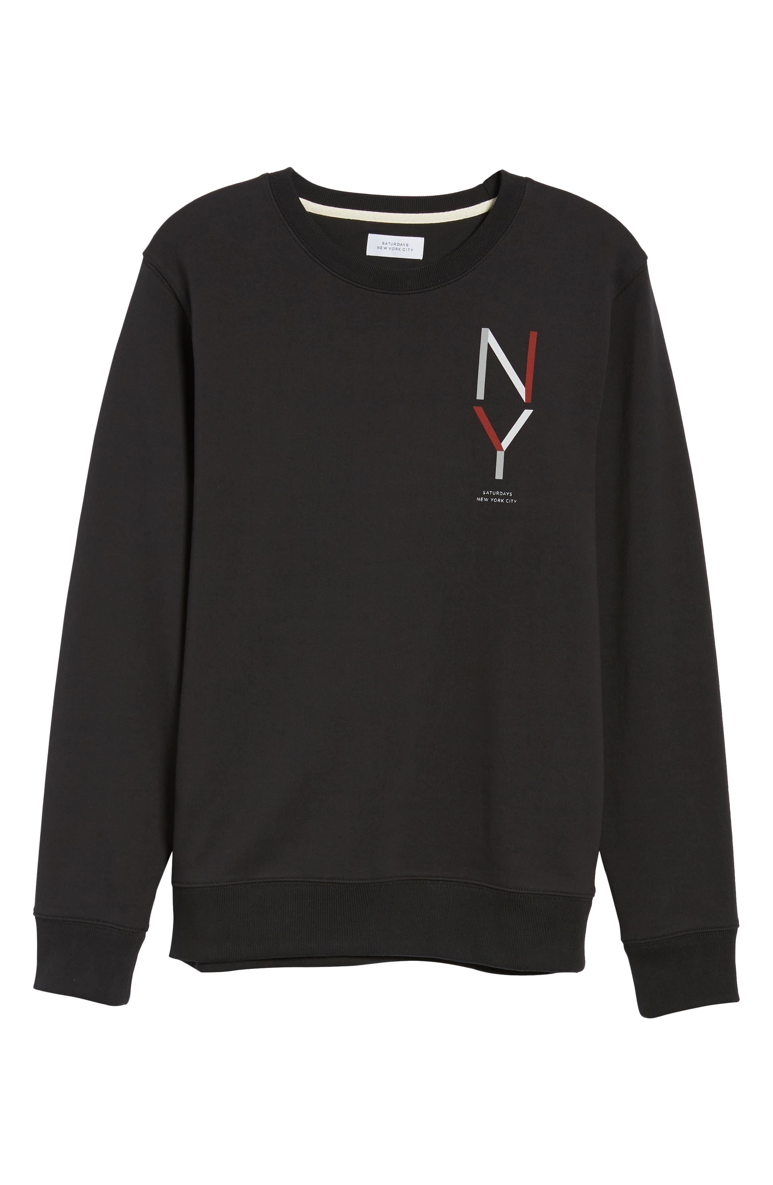 Bowery NY Sweatshirt,                             Alternate thumbnail 6, color,                             001