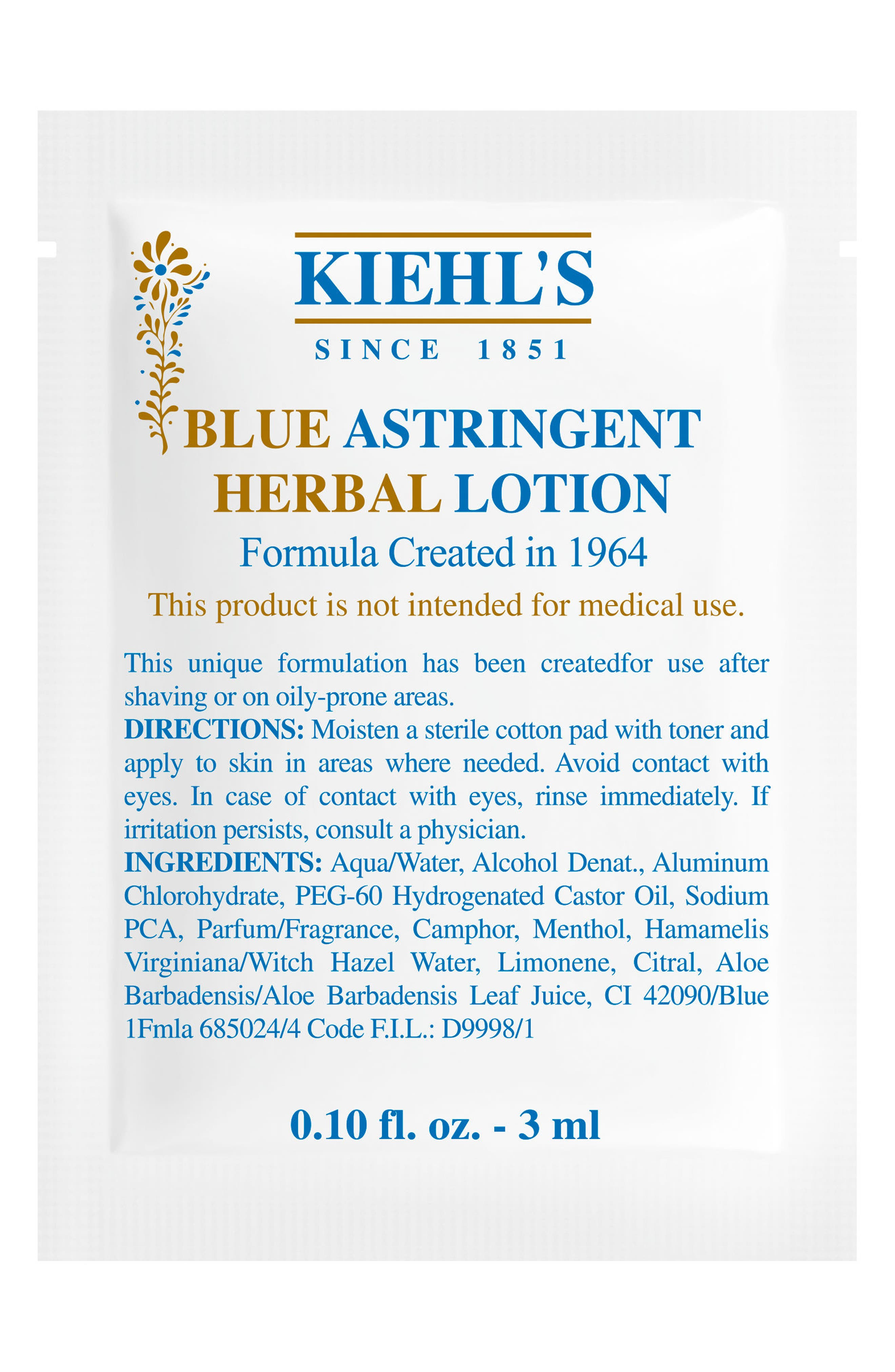 Blue Astringent Herbal Lotion<sup>®</sup>,                             Alternate thumbnail 3, color,                             NO COLOR