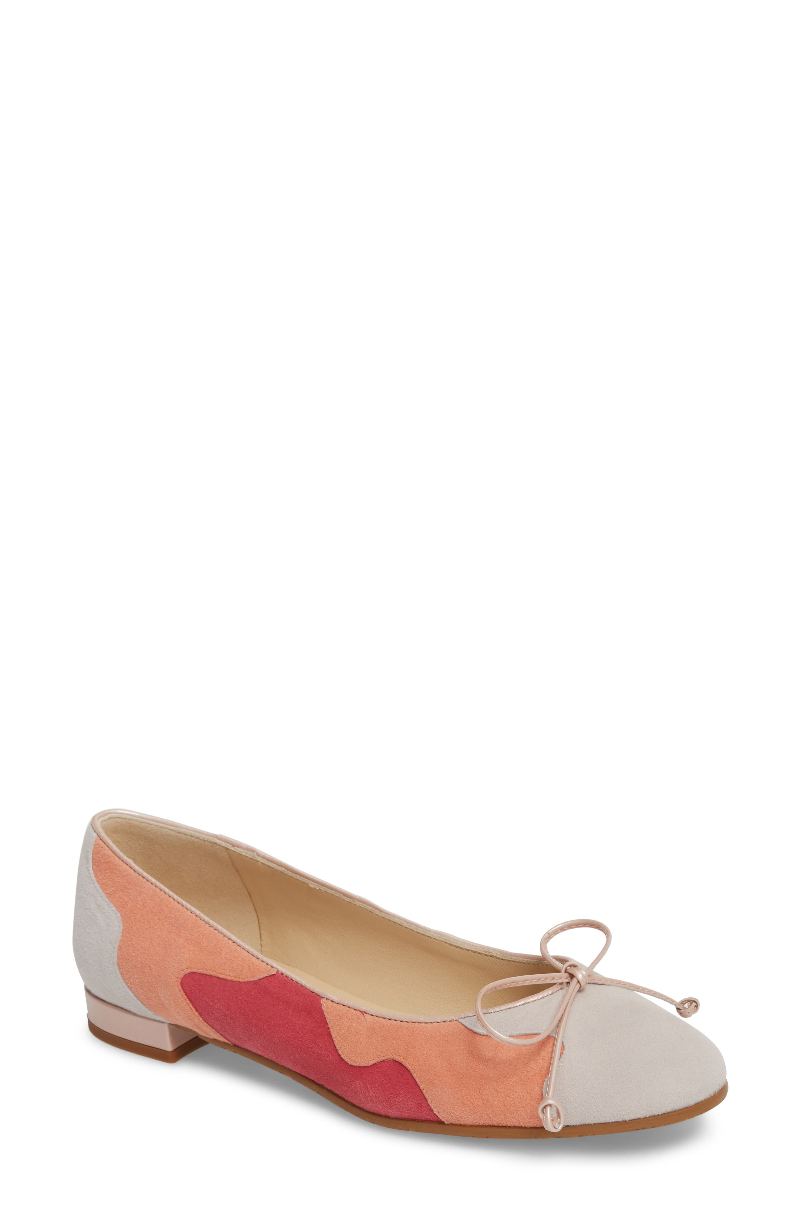 Ginevra Flat,                             Main thumbnail 1, color,                             BEIGE SUEDE