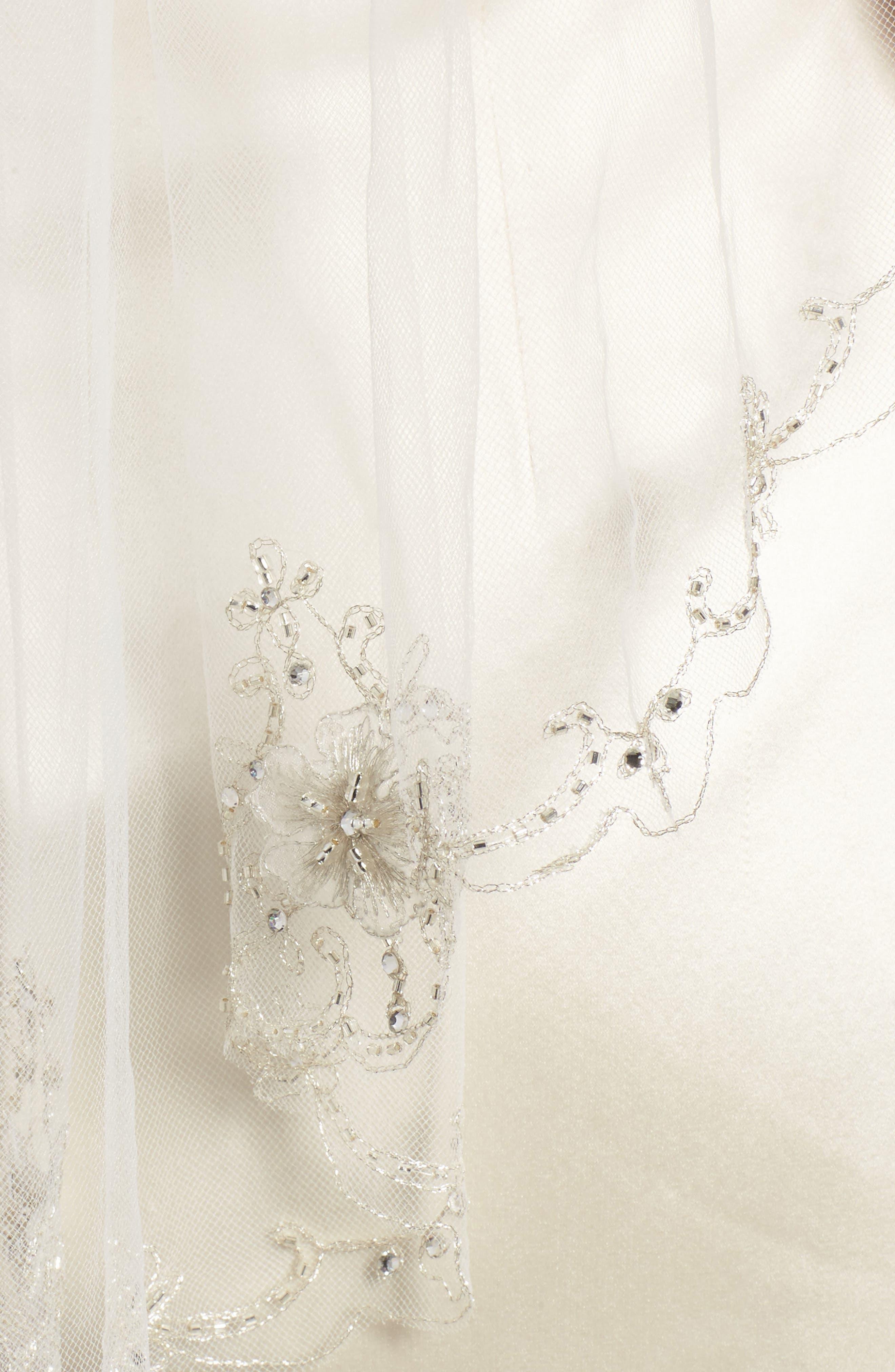 Marina Embellished Veil,                             Alternate thumbnail 2, color,                             901