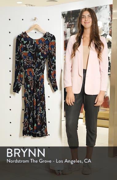 Abelia Floral Plunge Back Silk Dress, sales video thumbnail
