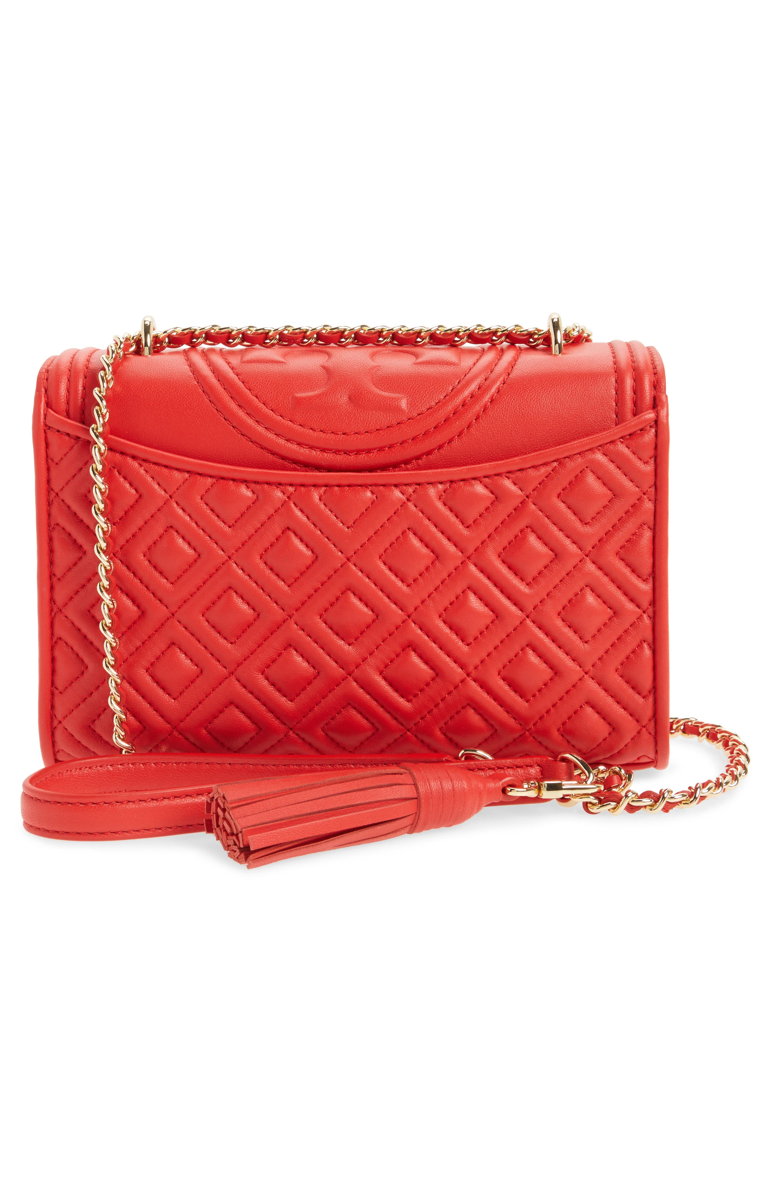 'Small Fleming' Quilted Leather Shoulder Bag,                             Alternate thumbnail 12, color,