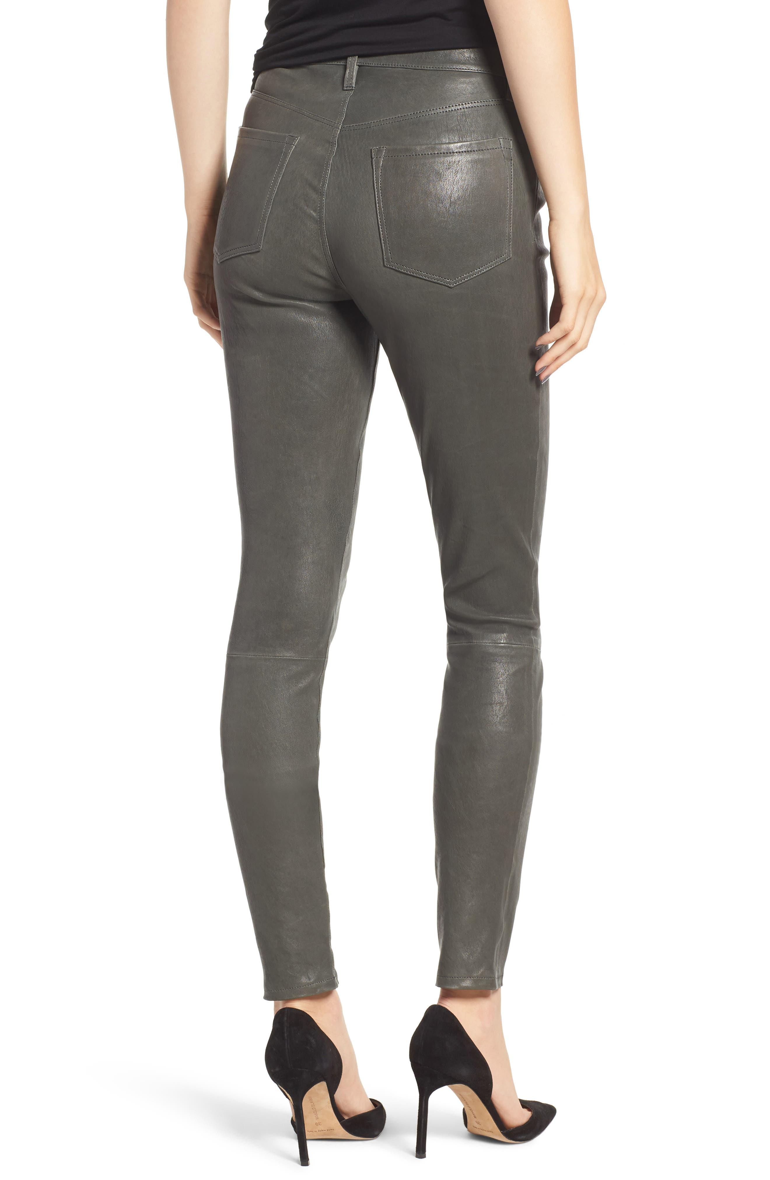 'Maria' Lambskin Leather Leggings,                             Alternate thumbnail 2, color,                             039