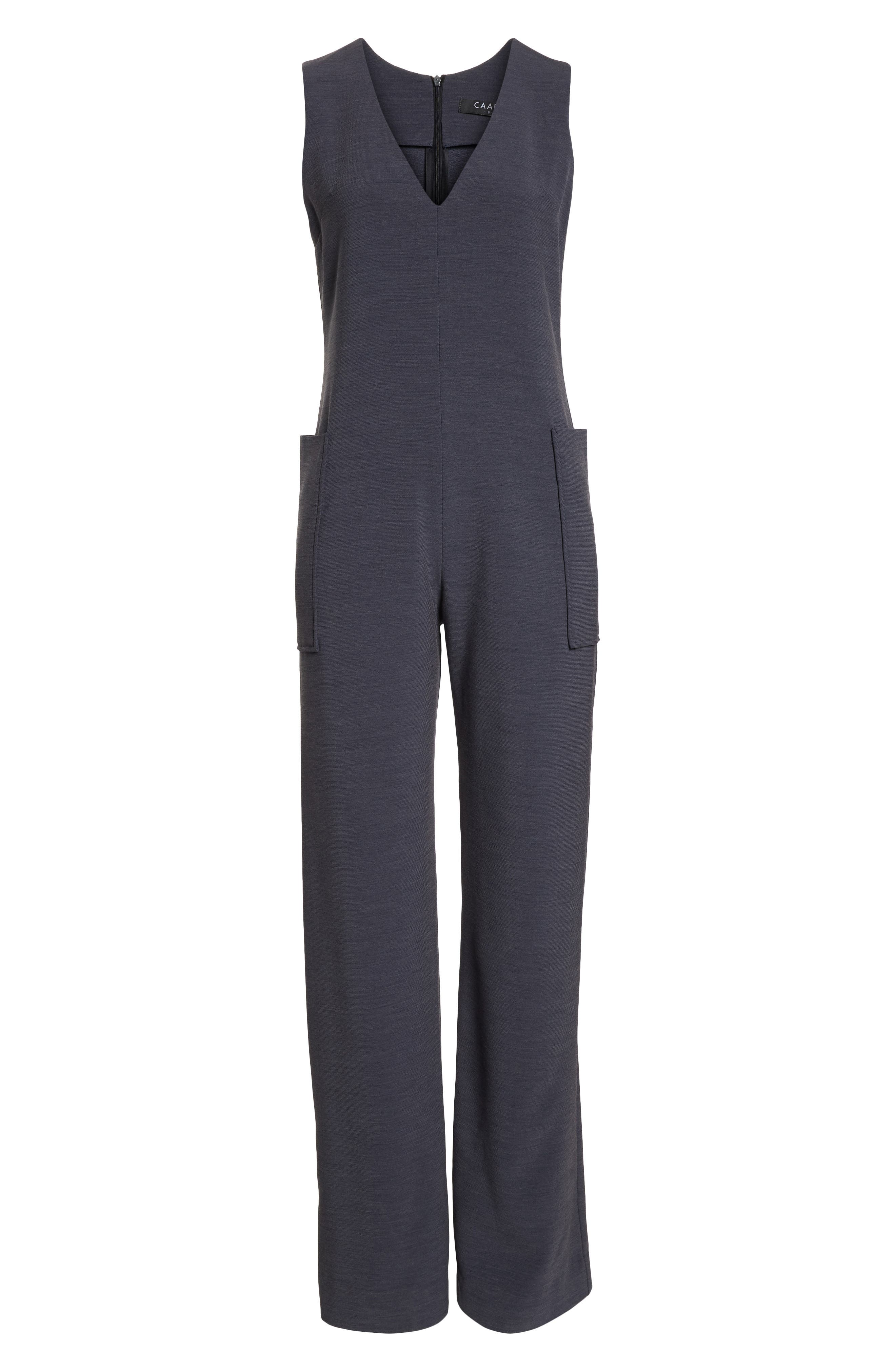 Harbor V-Neck Jumpsuit,                             Alternate thumbnail 7, color,                             020
