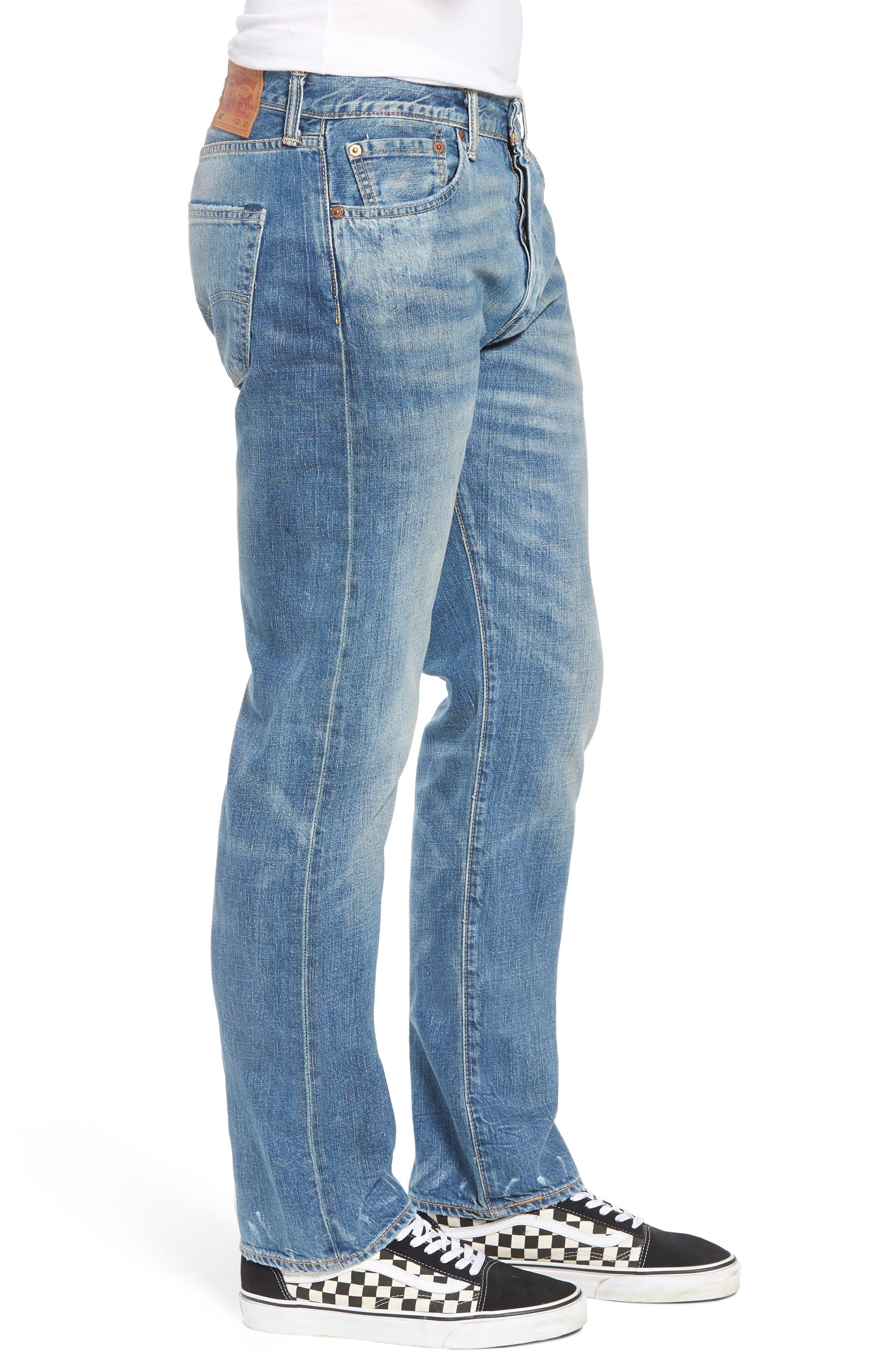 501<sup>®</sup> Original Straight Leg Jeans,                             Alternate thumbnail 3, color,