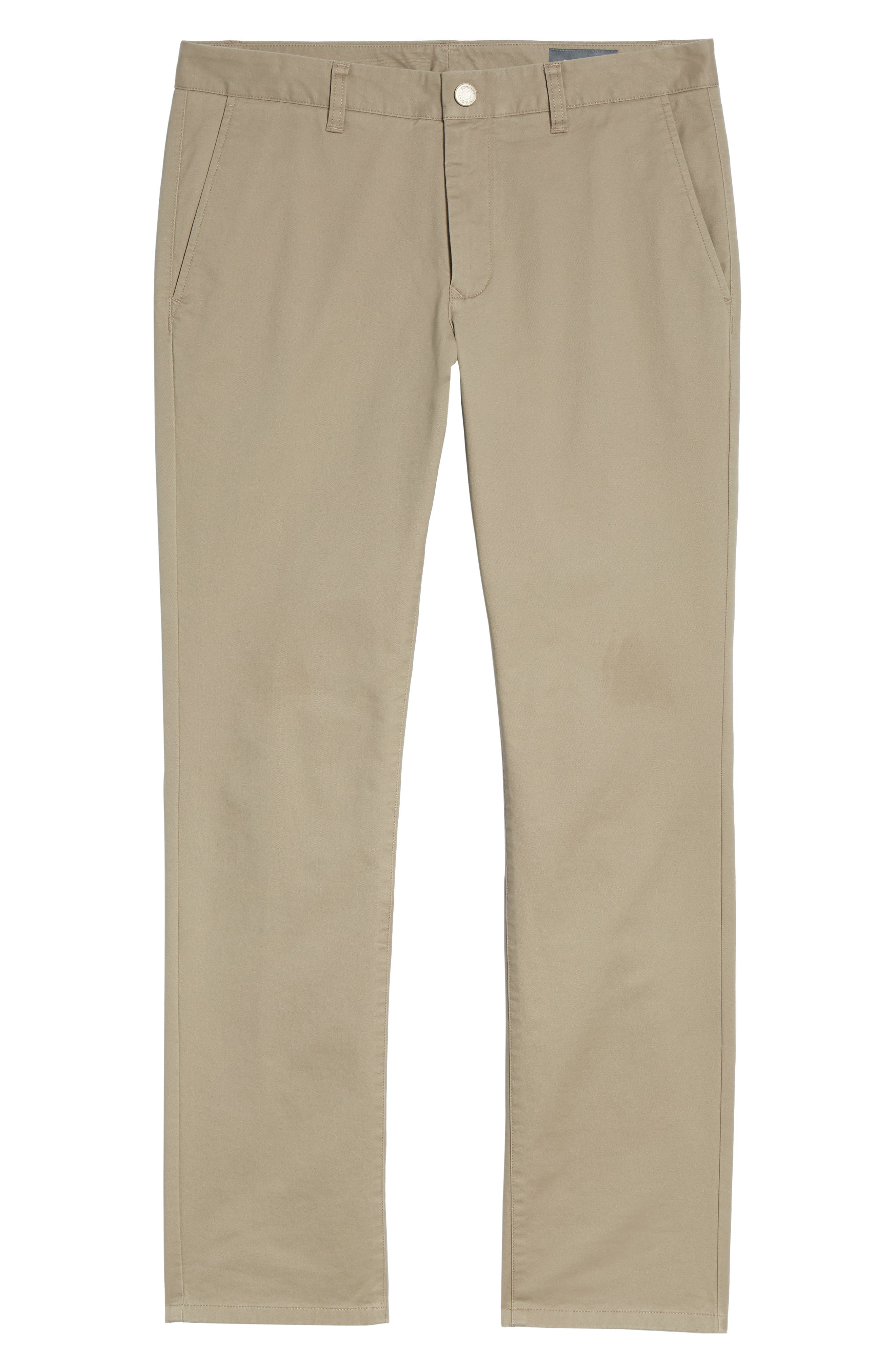 Tailored Fit Washed Stretch Cotton Chinos,                             Alternate thumbnail 178, color,