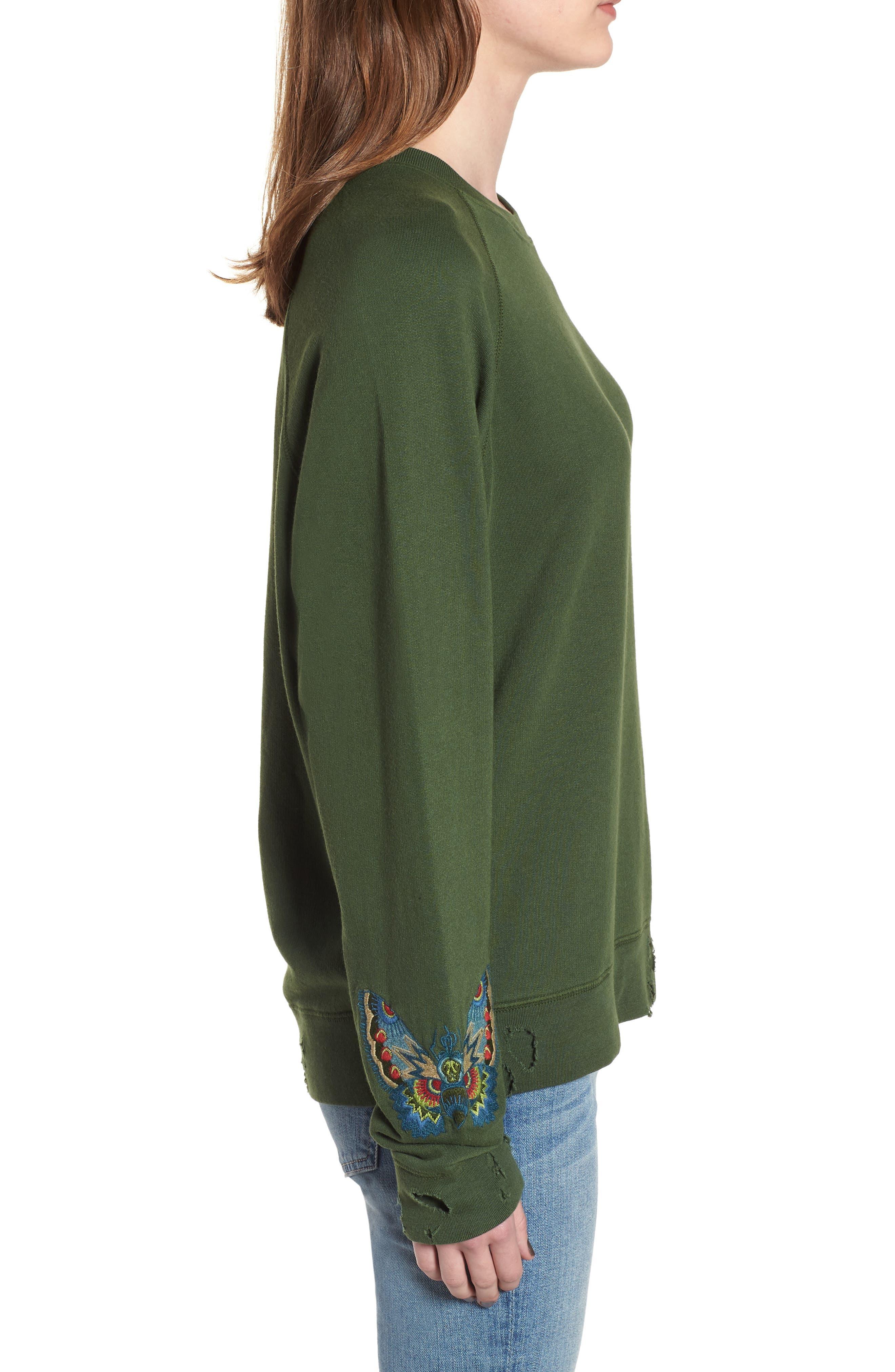 Upper Bis Brode Sweatshirt,                             Alternate thumbnail 3, color,                             340