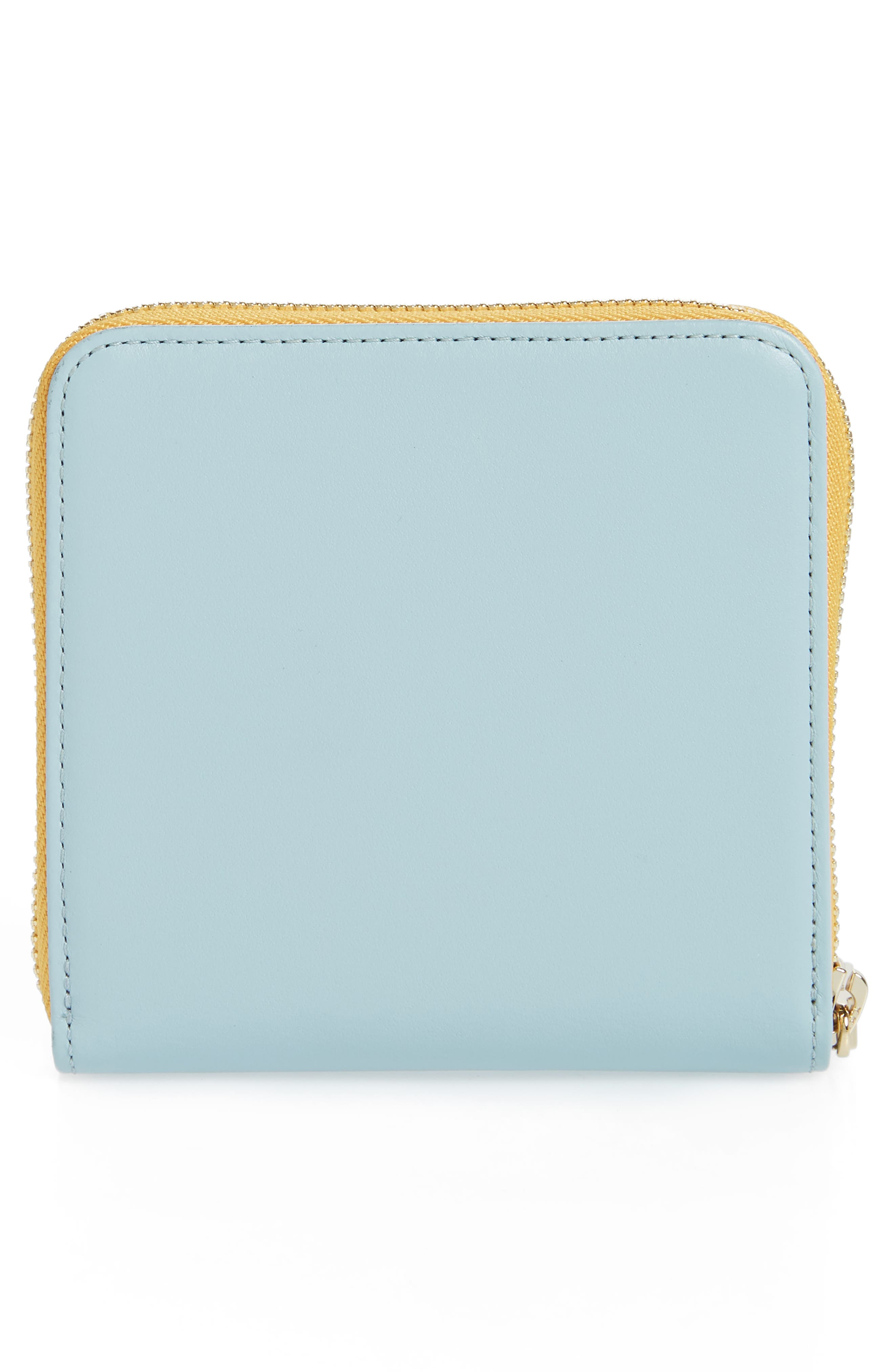 Half Zip Carryall Wallet,                             Alternate thumbnail 4, color,                             CLOUD BLUE/ HONEY