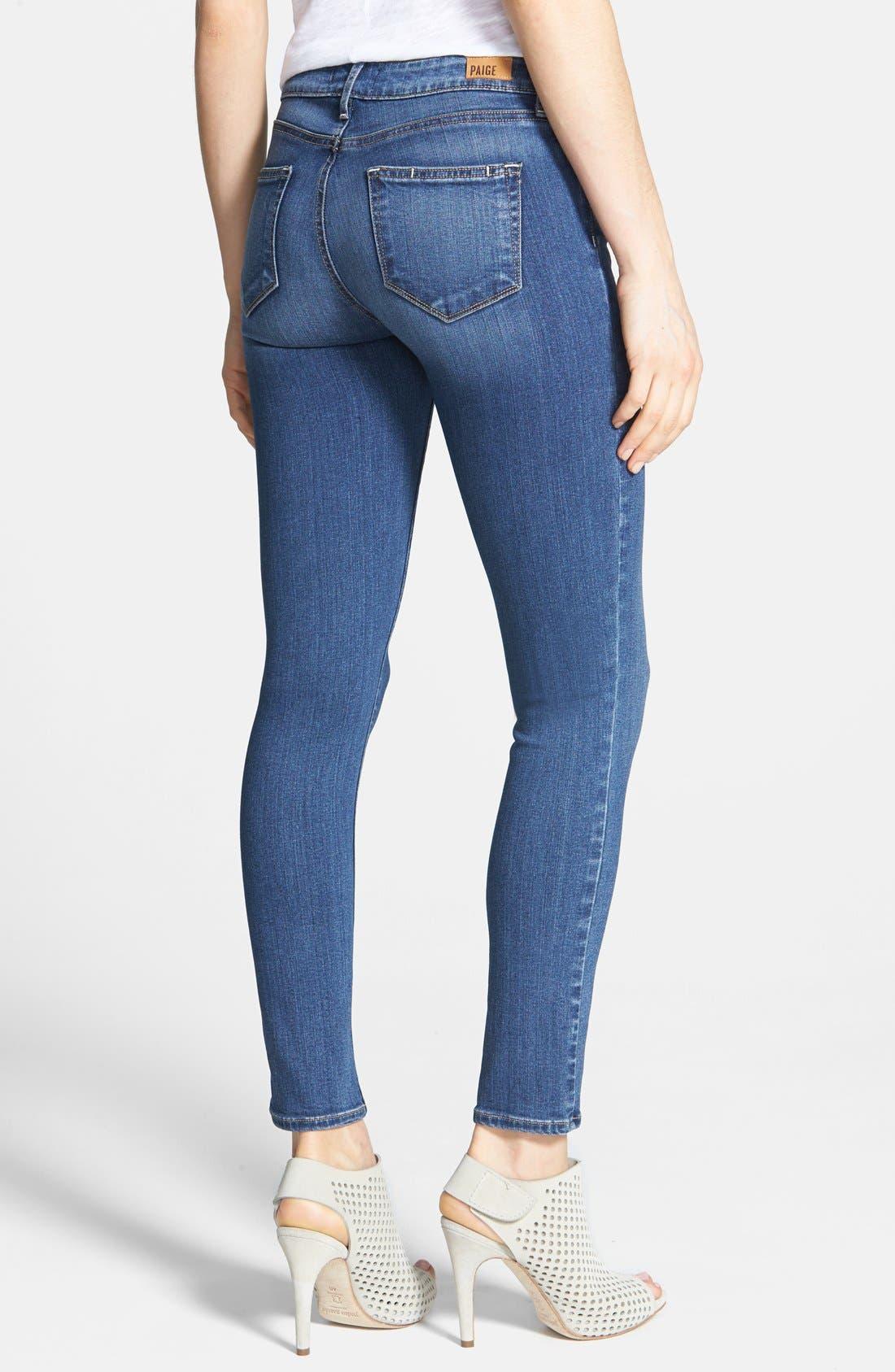 Transcend - Verdugo Ankle Skinny Jeans,                             Alternate thumbnail 8, color,                             TRISTAN