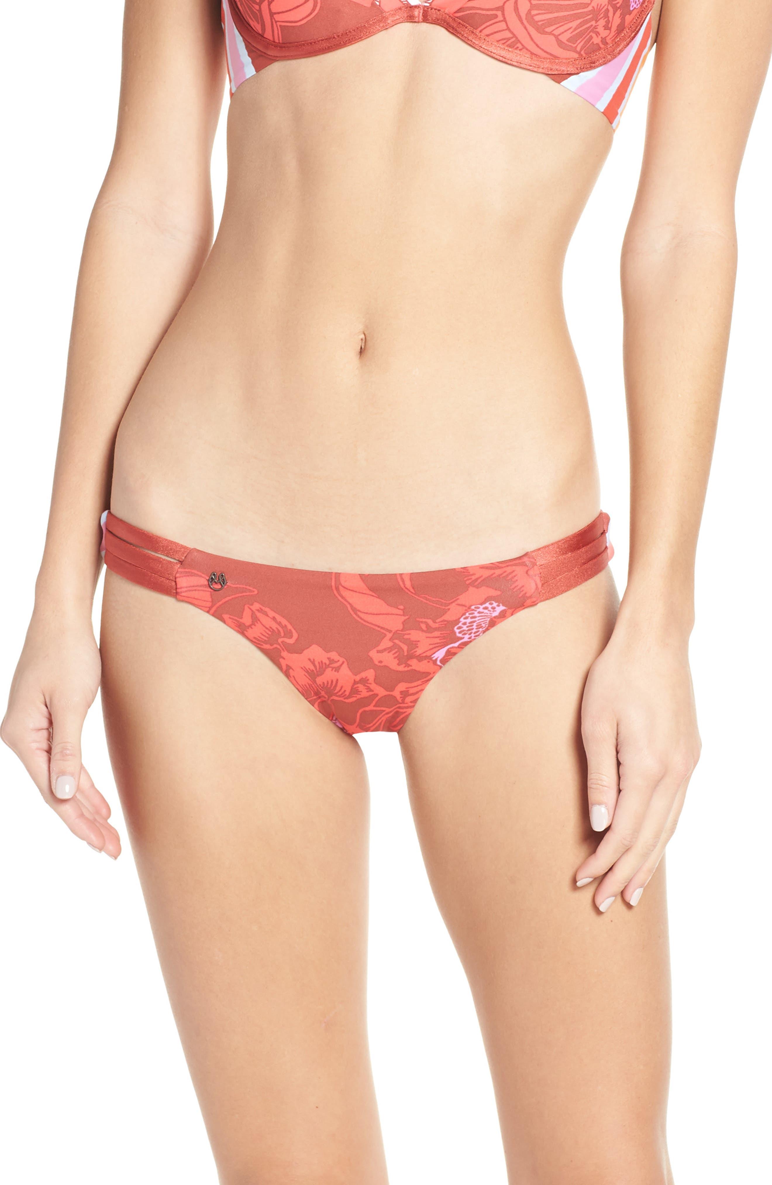 Maaji Curuba Samba Signature Reversible Bikini Bottoms, Red