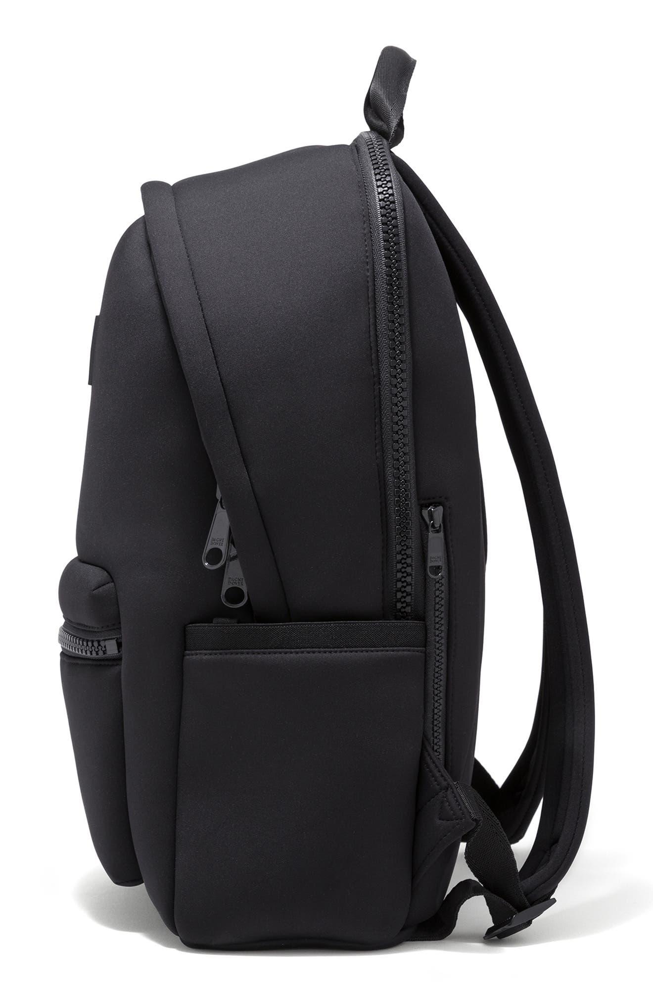 DAGNE DOVER,                             Large Dakota Neoprene Backpack,                             Alternate thumbnail 4, color,                             ONYX
