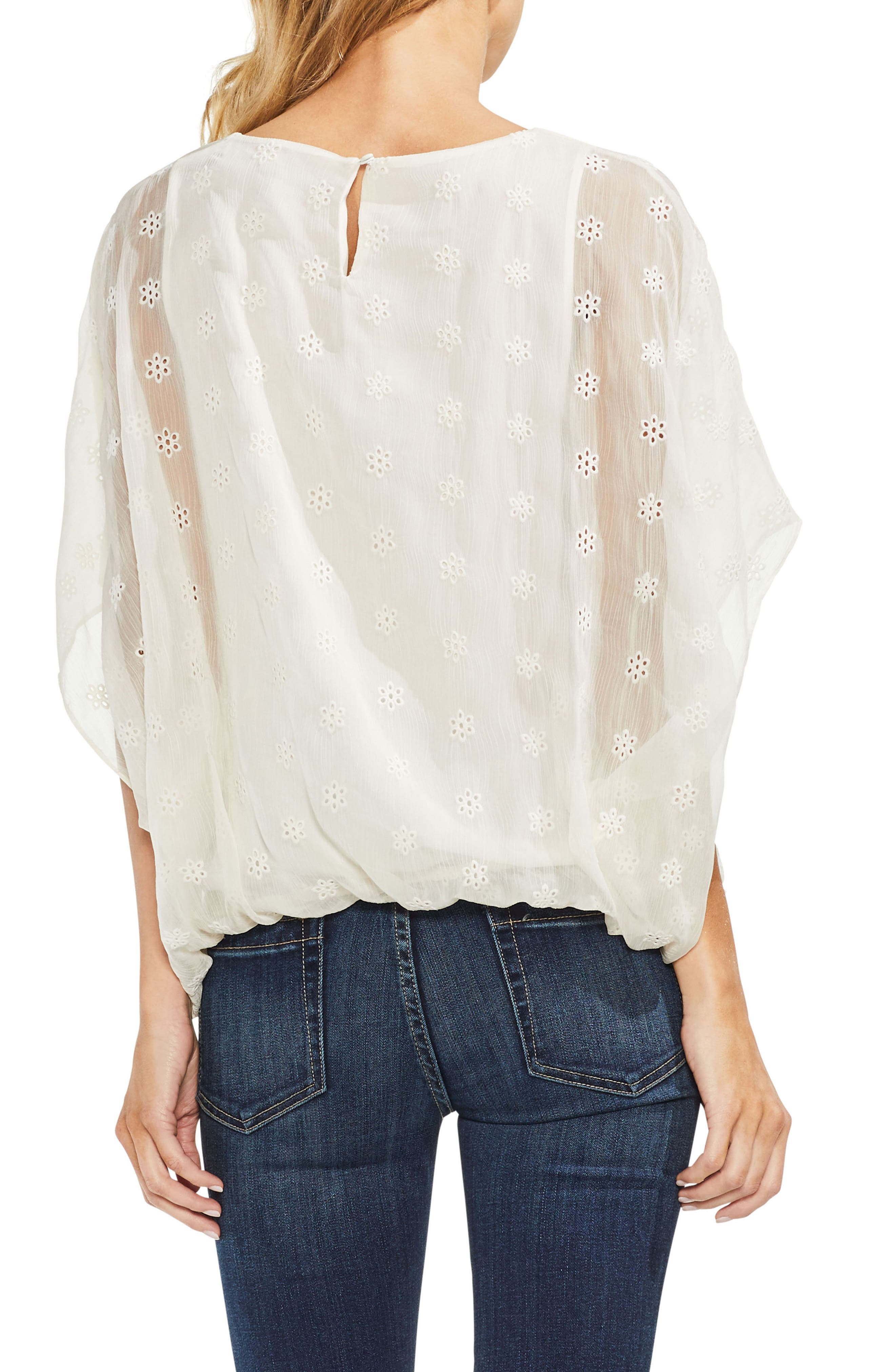 Embroidered Eyelet Blouse,                             Alternate thumbnail 5, color,