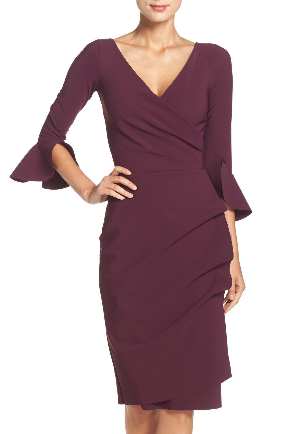 CHIARA BONI LA PETITE ROBE 'Triana' Jersey Sheath Dress, Main, color, 501
