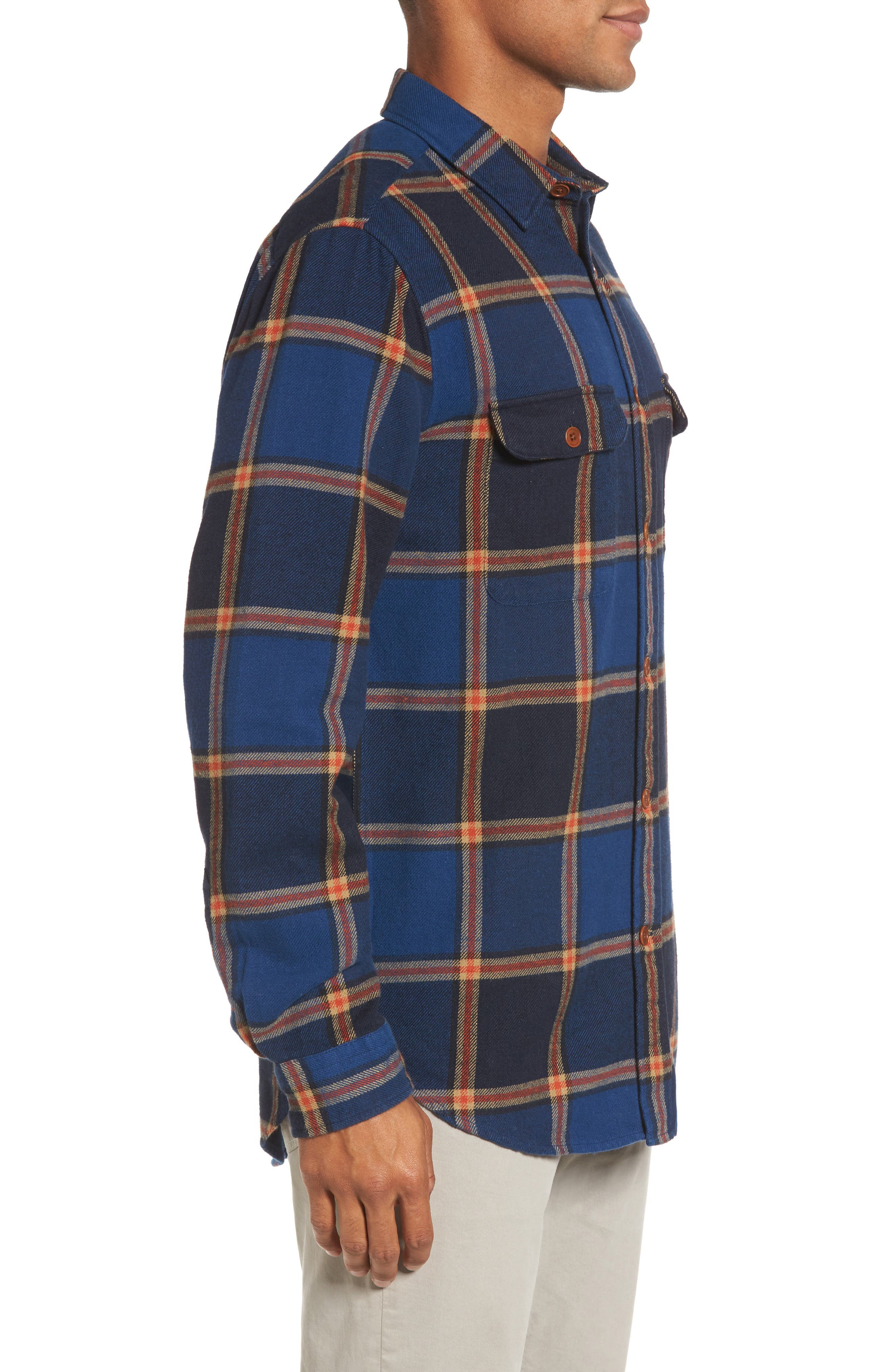 R1 Check Twill Shirt Jacket,                             Alternate thumbnail 3, color,                             410