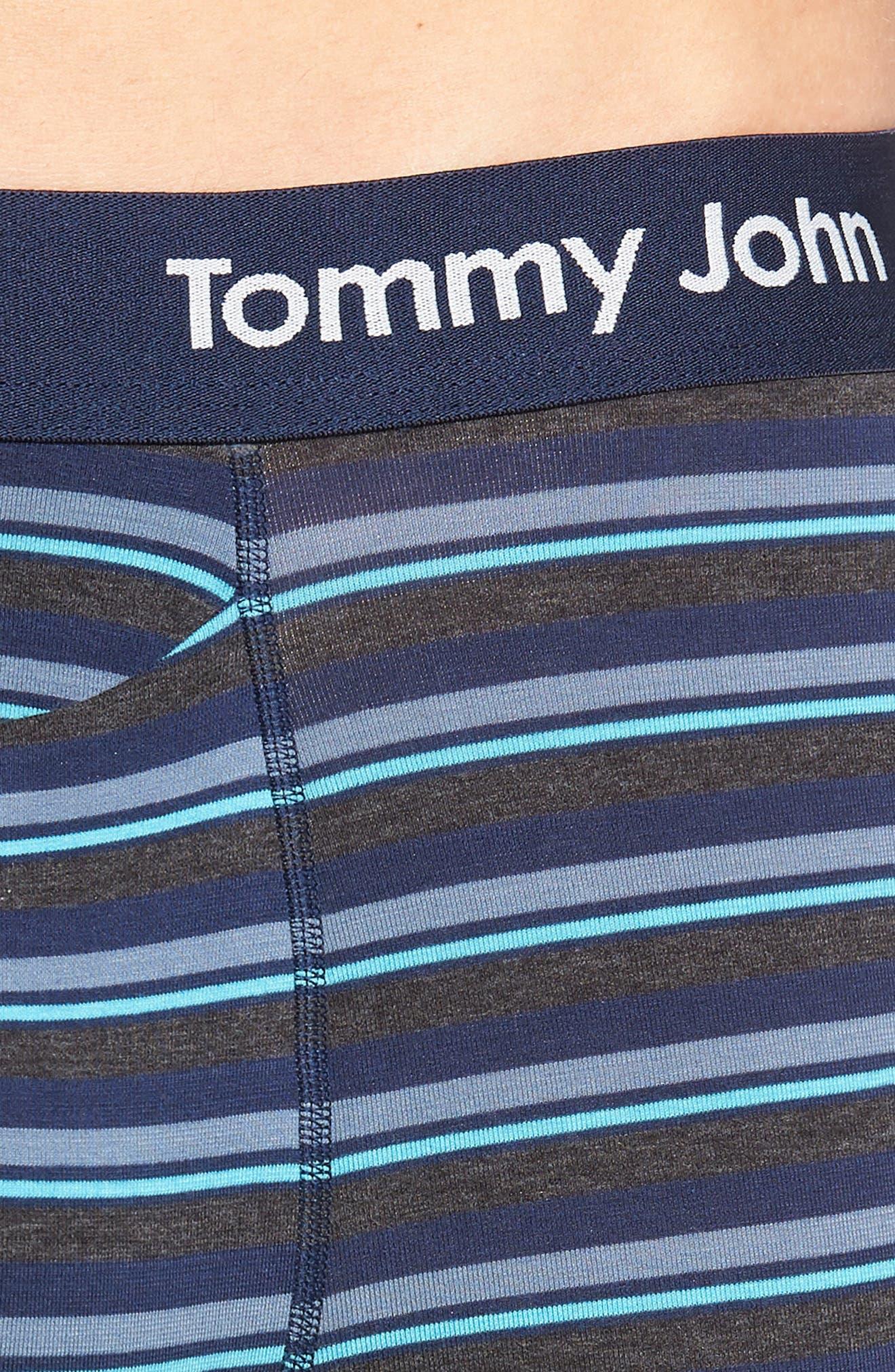Cool Cotton Boxer Briefs,                             Alternate thumbnail 4, color,                             MAUI BLUE
