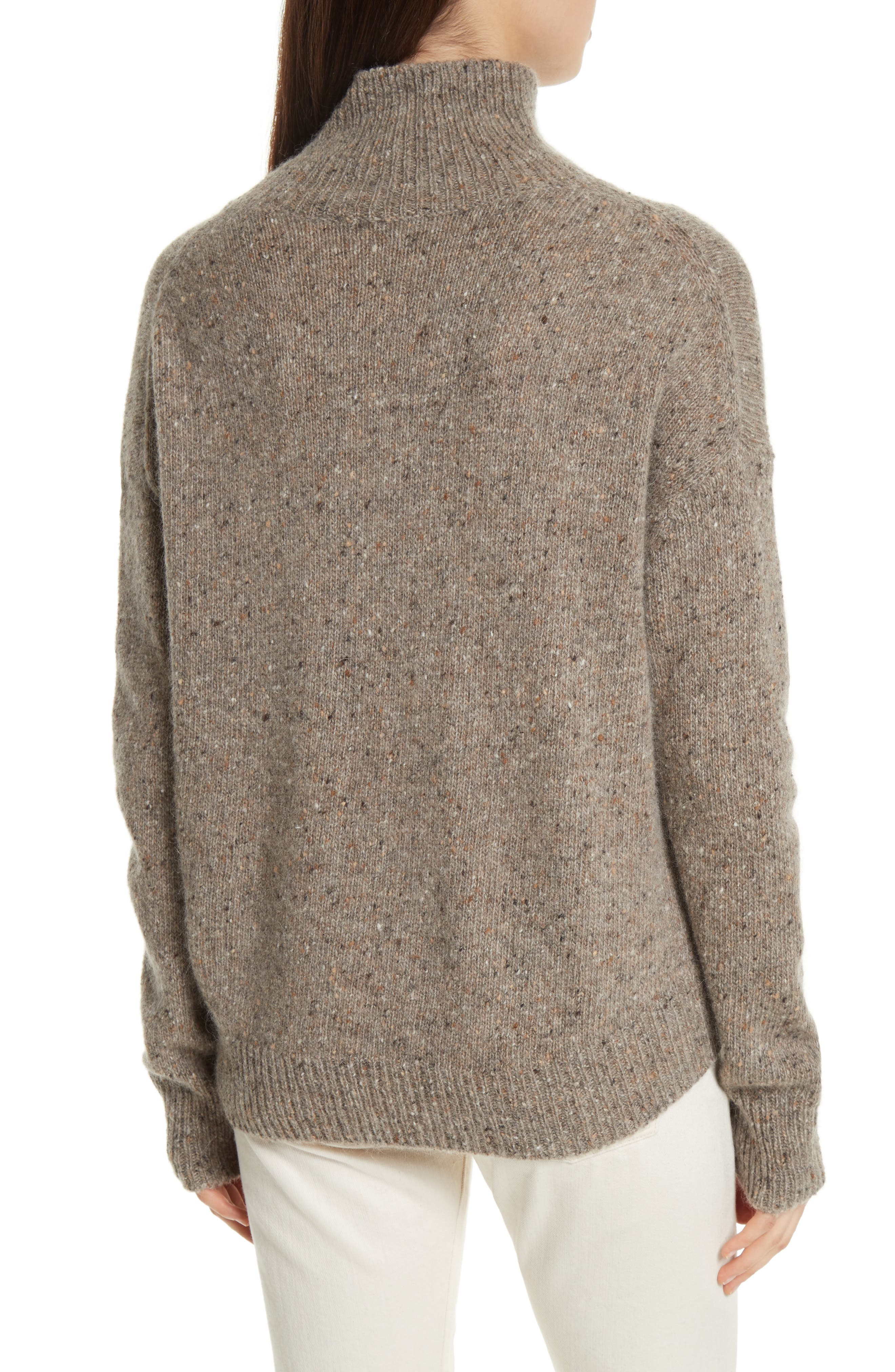 Cashmere Turtleneck Sweater,                             Alternate thumbnail 4, color,