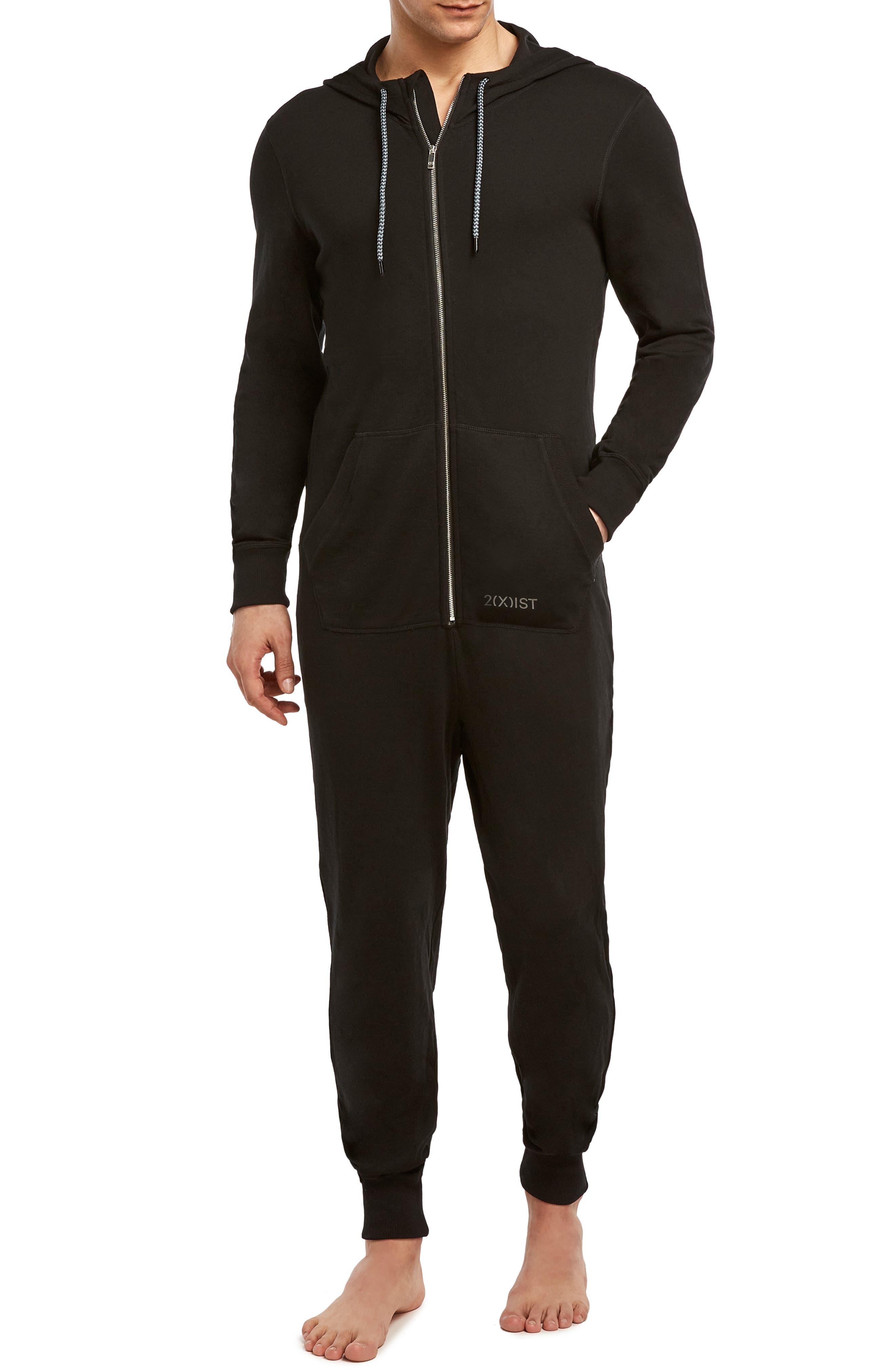 Terrycloth Jumpsuit,                             Main thumbnail 1, color,                             BLACK