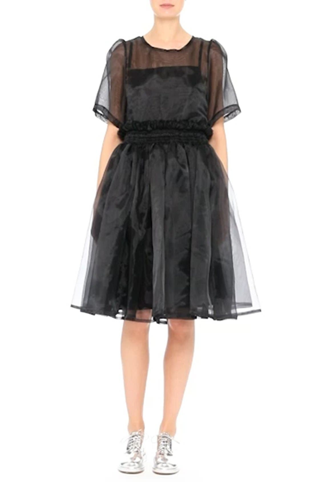 Addison Tulle Dress,                             Alternate thumbnail 7, color,                             001