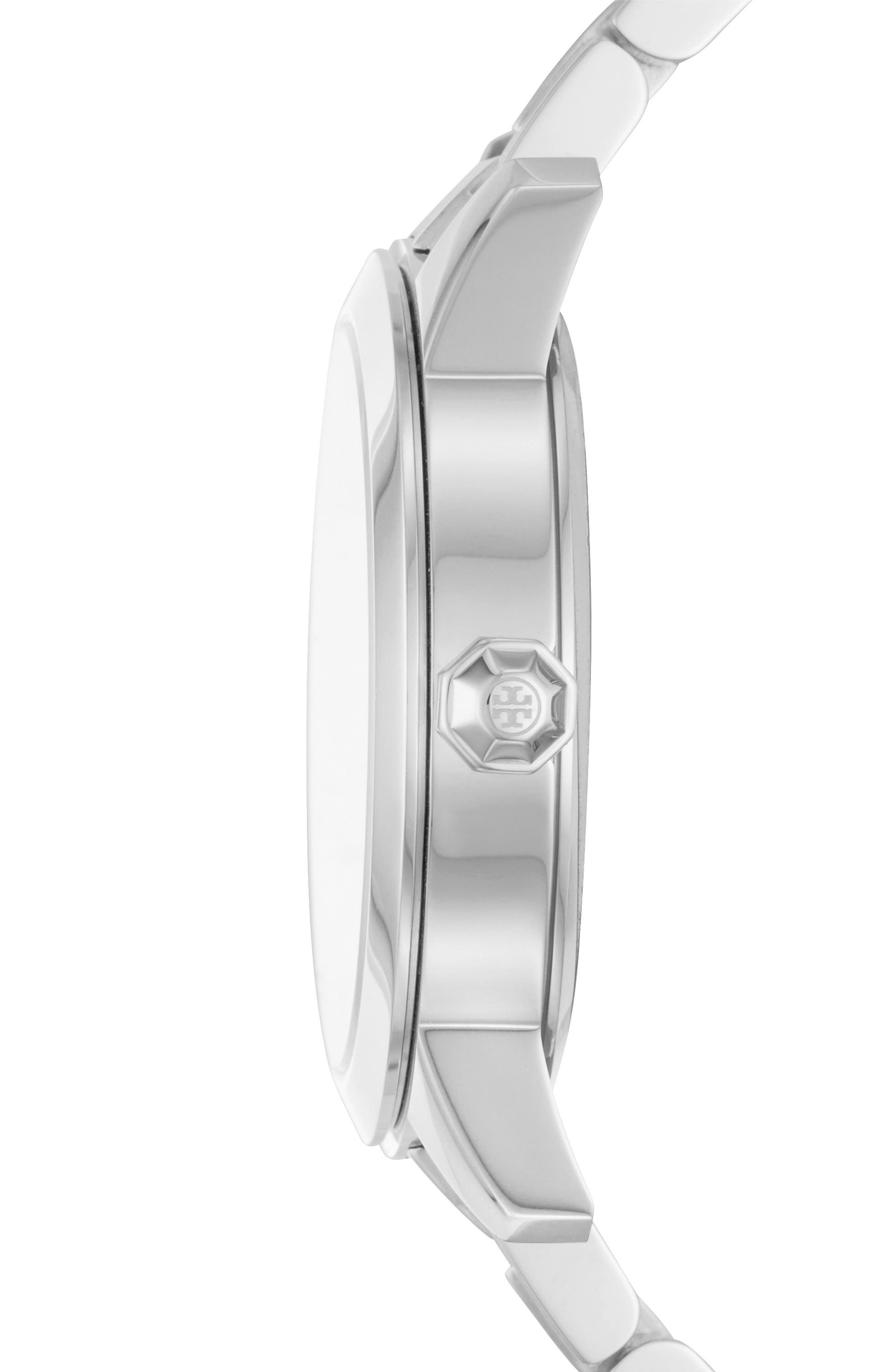 Collins Bracelet Watch, 38mm,                             Alternate thumbnail 2, color,                             SILVER/ IVORY/ SILVER