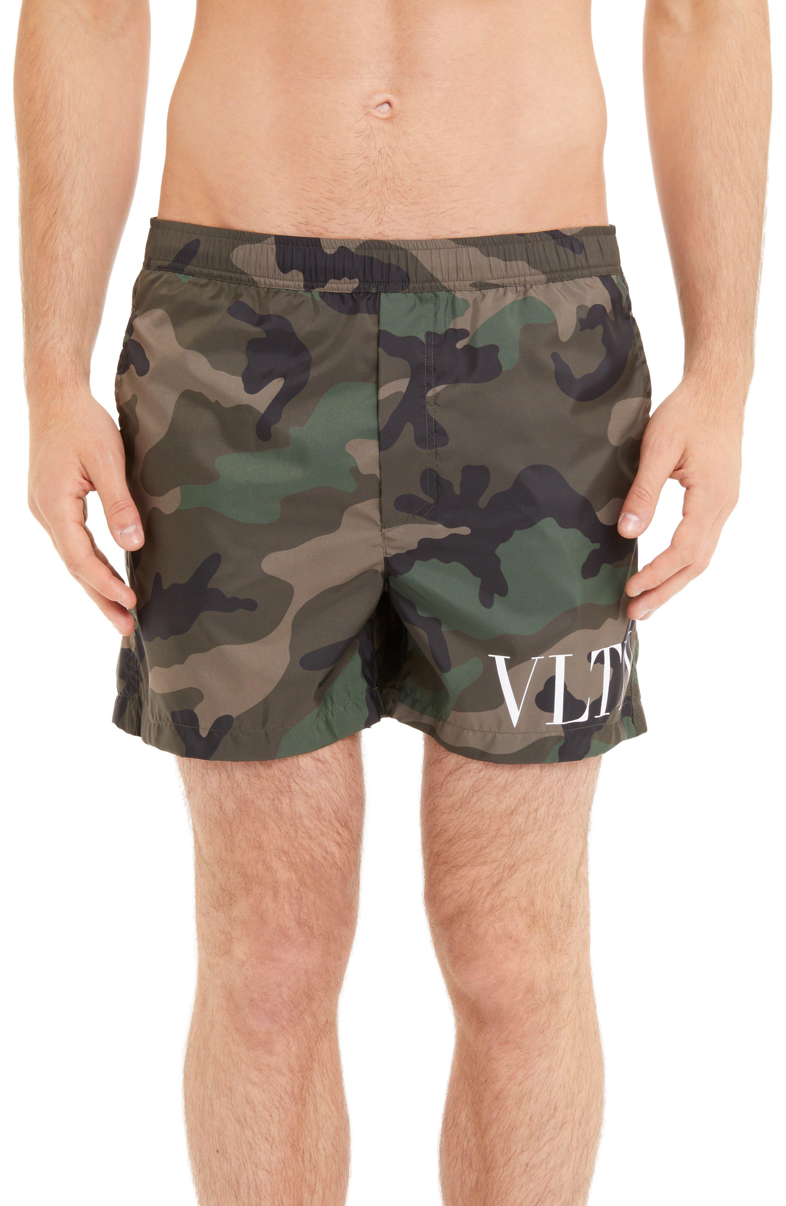 VLTN Camo Swim Trunks, Main, color, CAMOU ARMY