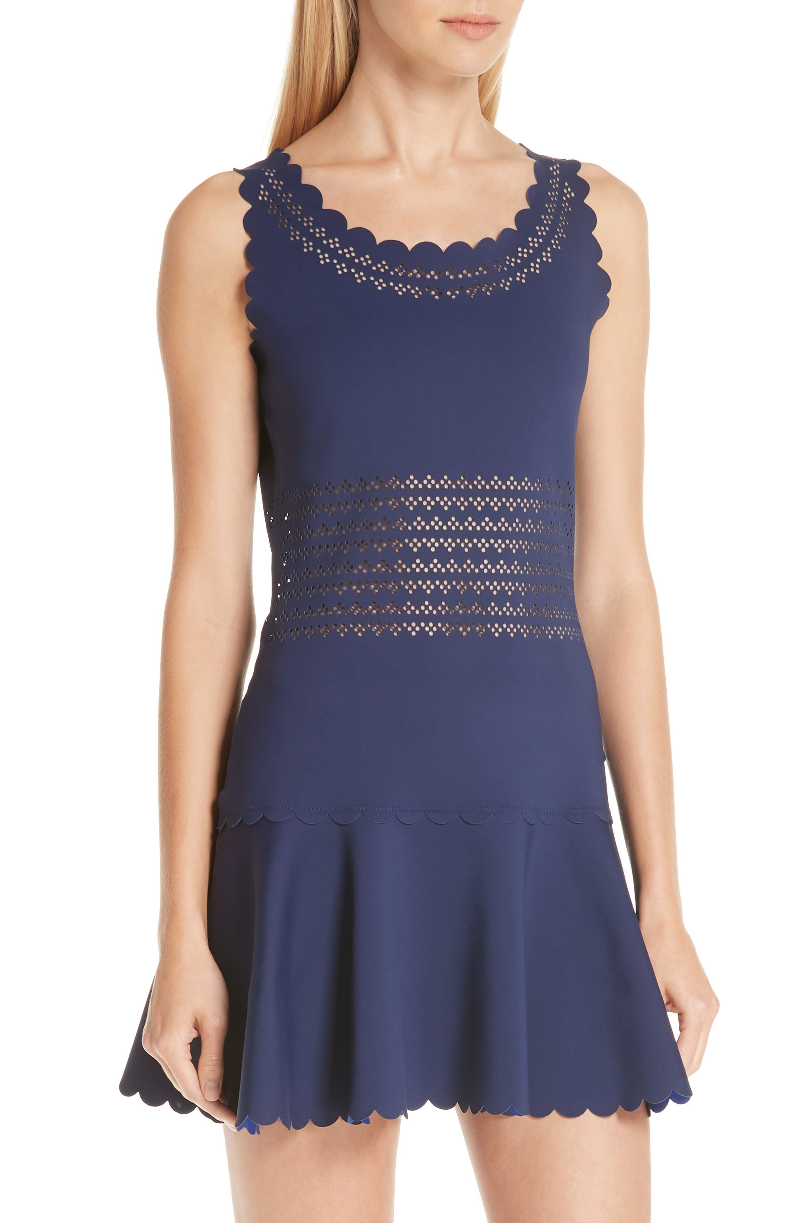 Center Court Tennis Dress,                             Alternate thumbnail 3, color,                             BLUE