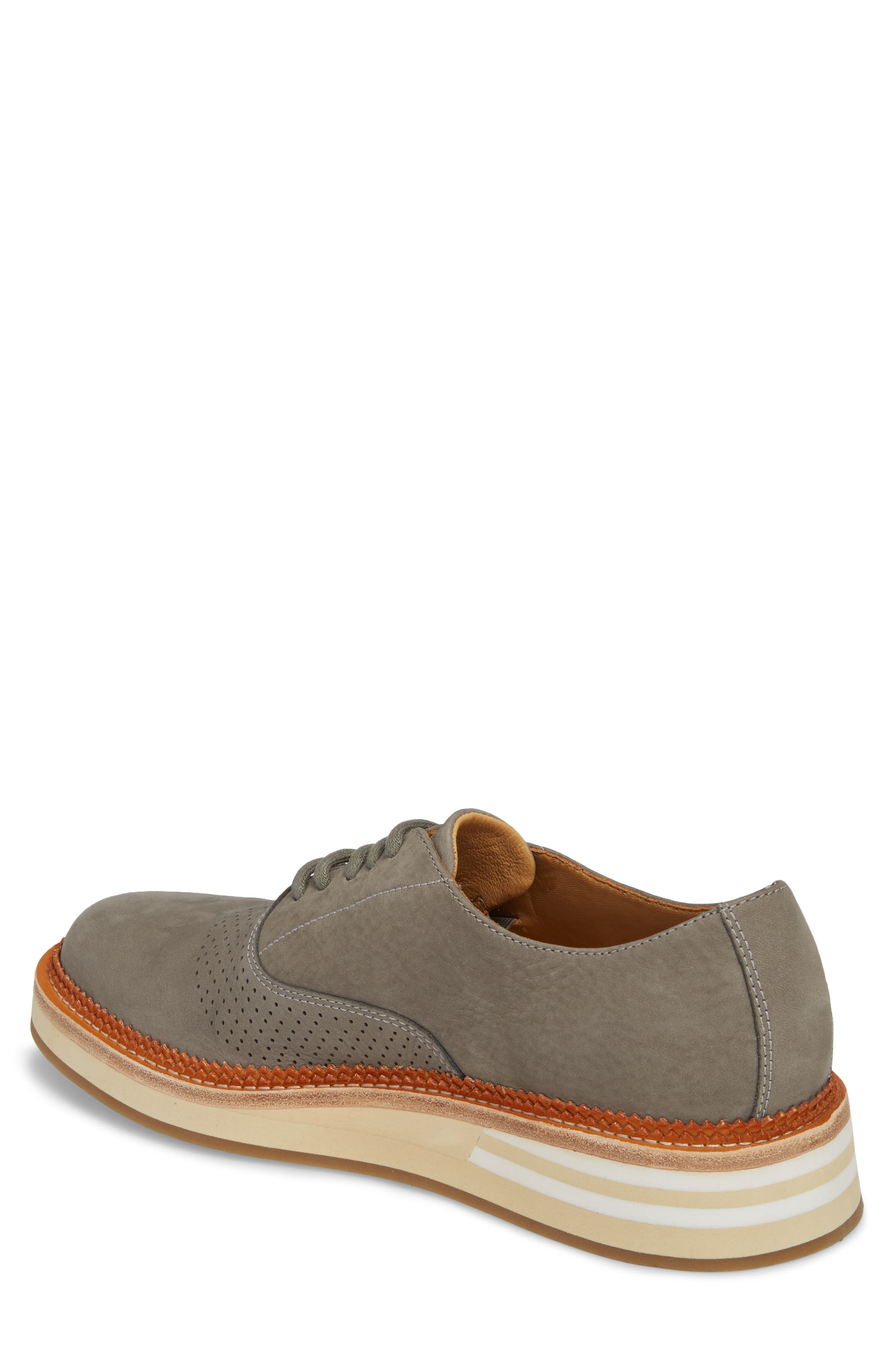 Cloud Perforated Oxford,                             Alternate thumbnail 2, color,                             GREY