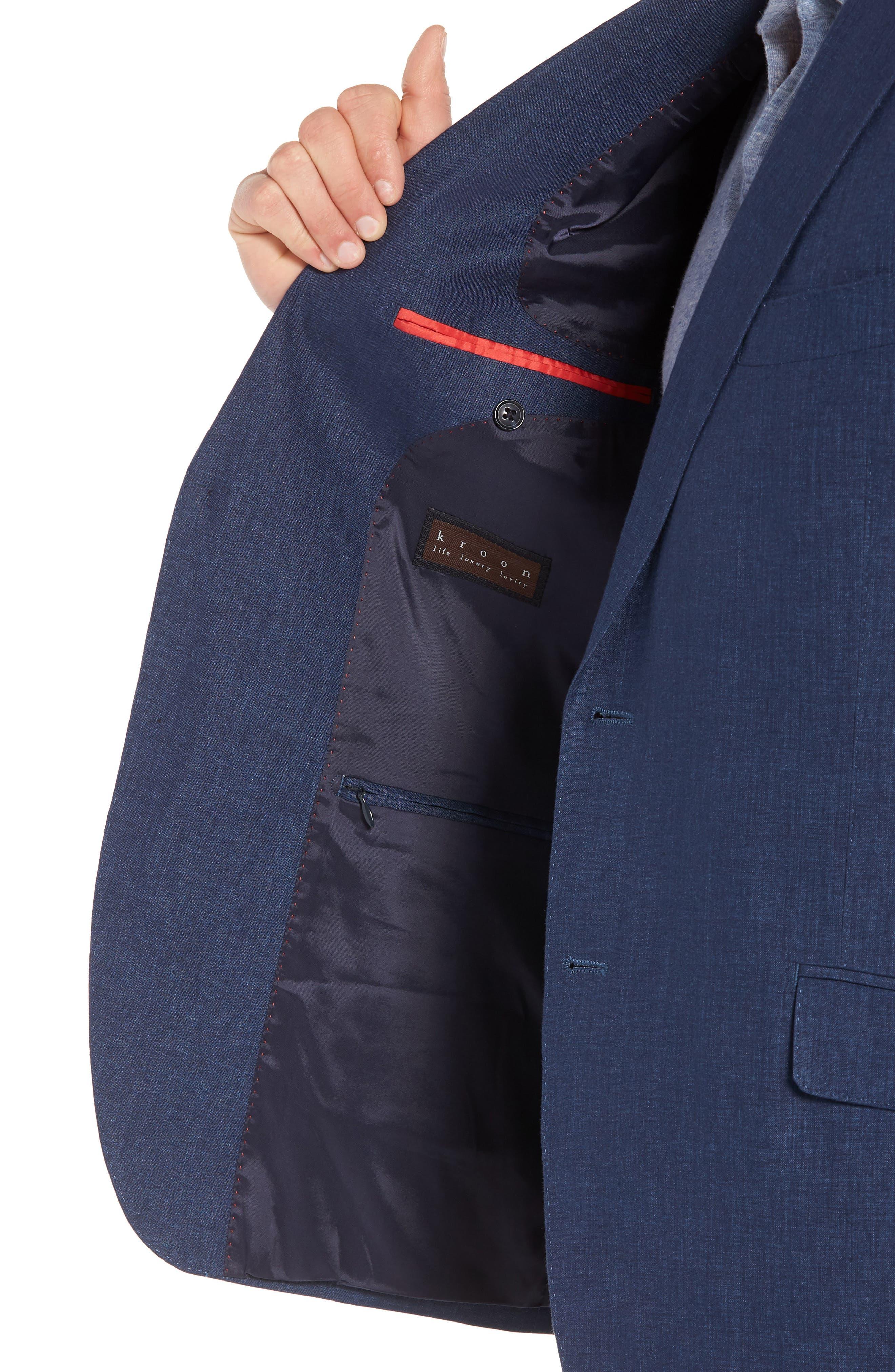 Jack AIM Classic Fit Linen Blazer,                             Alternate thumbnail 4, color,                             NAVY