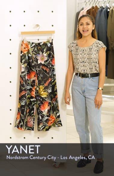 Floral Crop Wide Leg Pants, sales video thumbnail